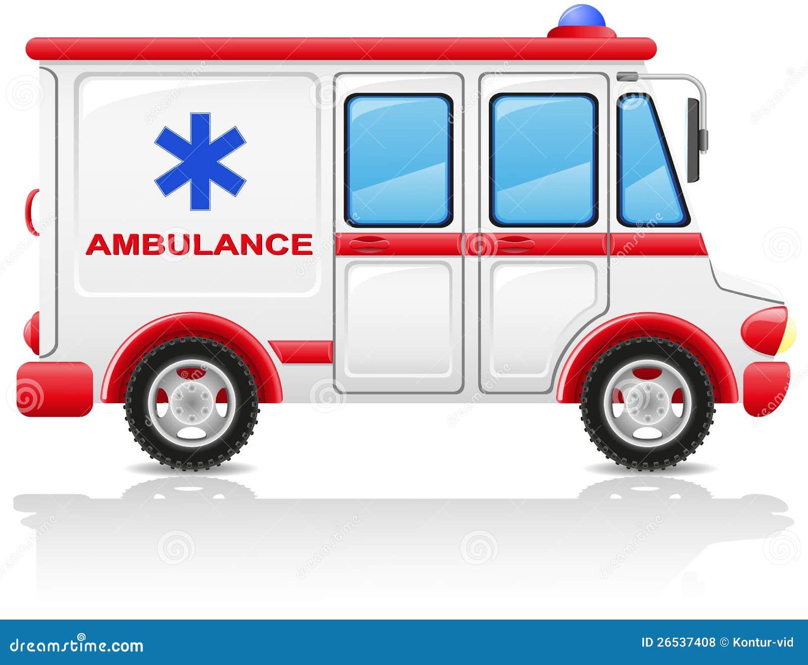 Illustration de vecteur de véhicule d ambulance