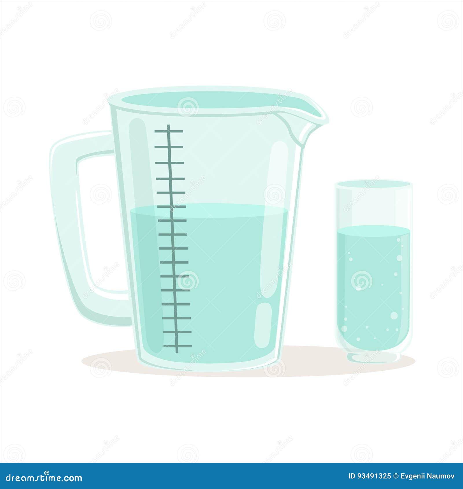 Illustration de vecteur de vaisselle de cuisine de tasse et en verre de mesure