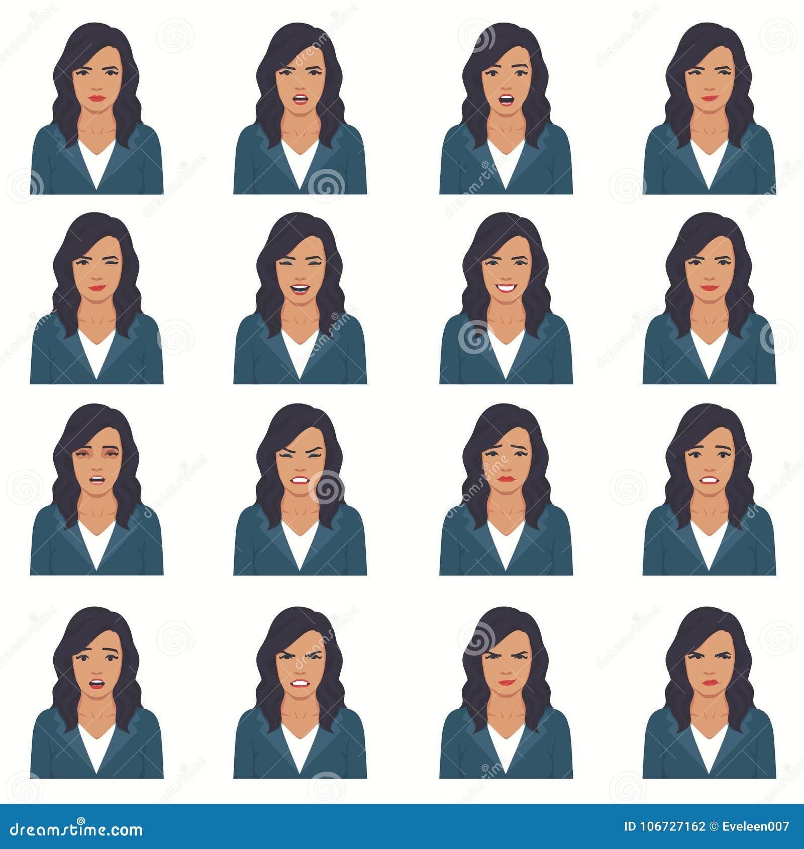 Illustration de vecteur des expressions d un visage