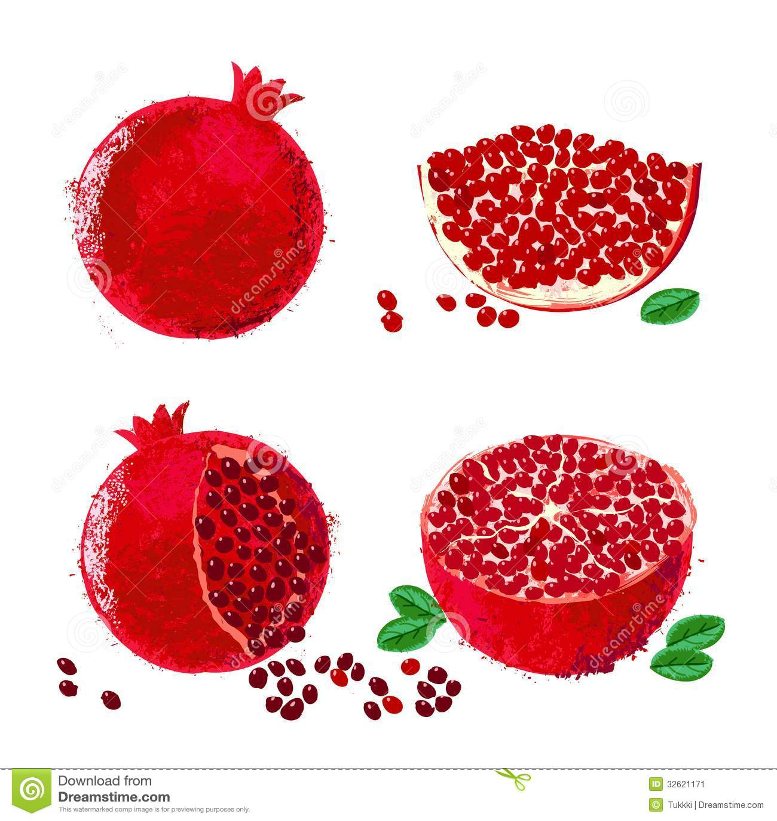 Illustration de vecteur des fruits de grenade image stock image 32621171 - Acheter des grenades fruits ...