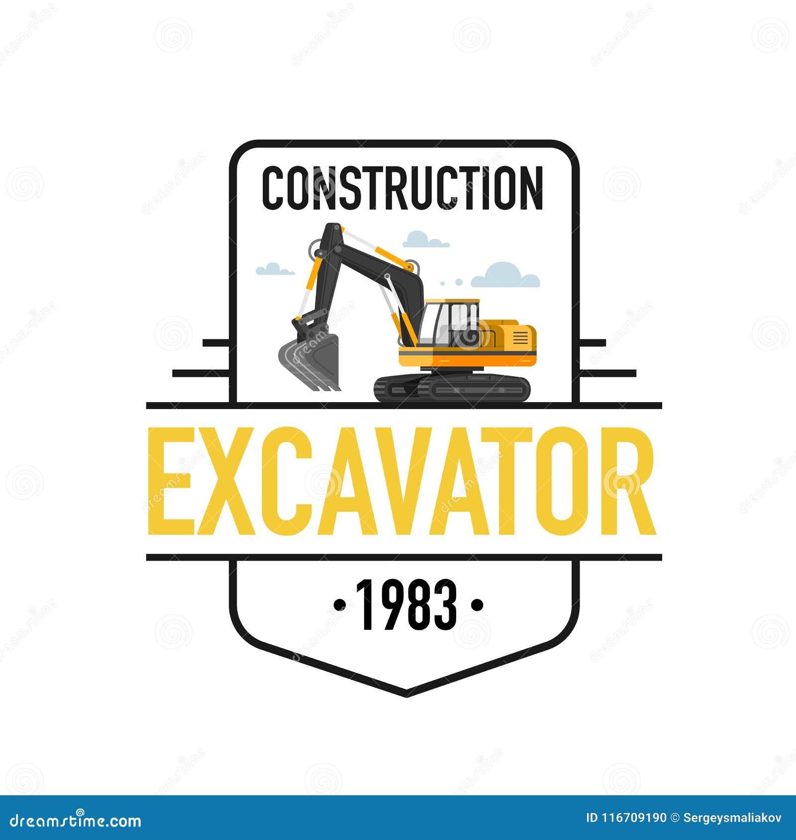 Illustration de vecteur des logos d excavatrice