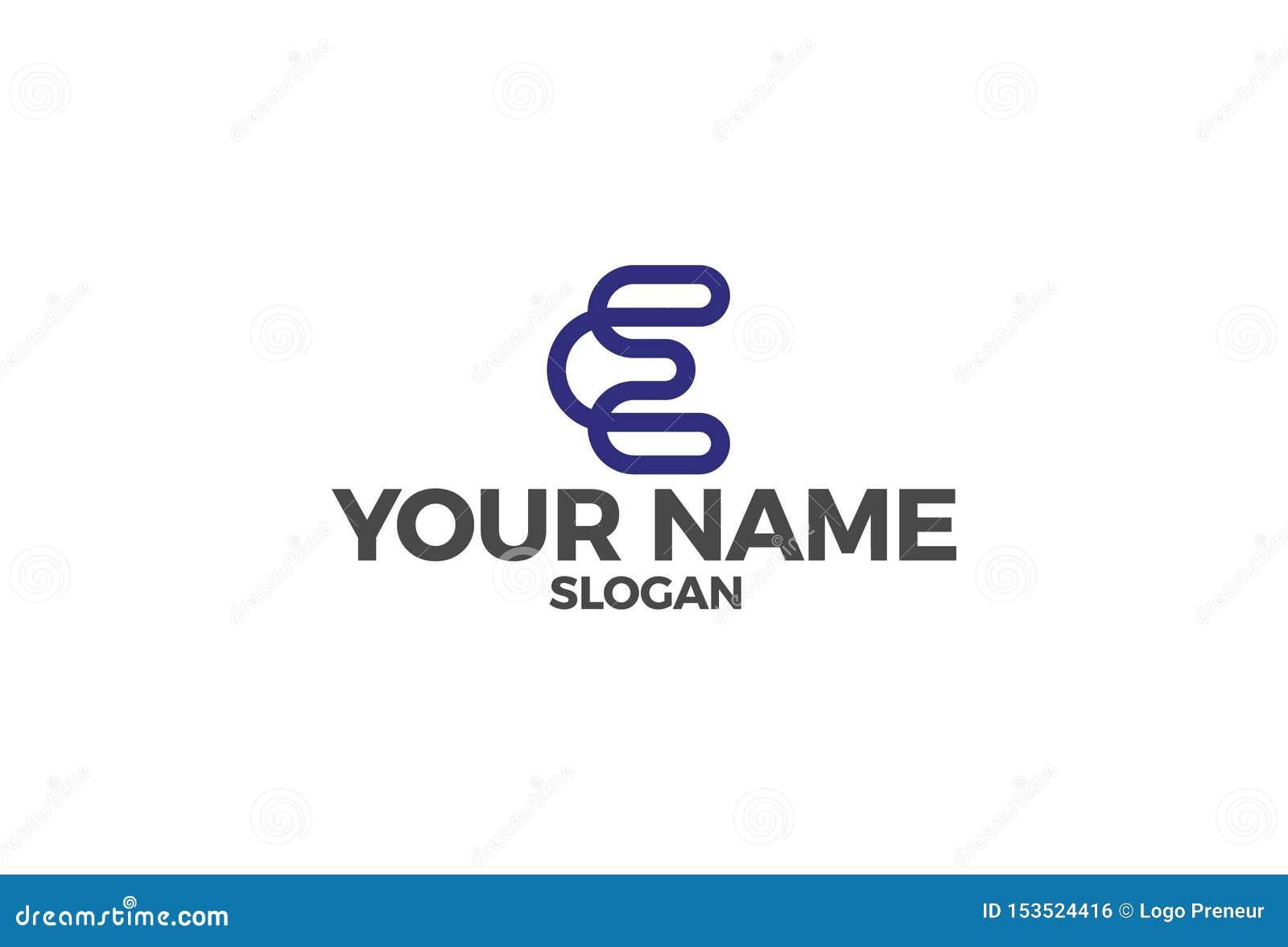 Illustration de vecteur de la lettre E Logo Design