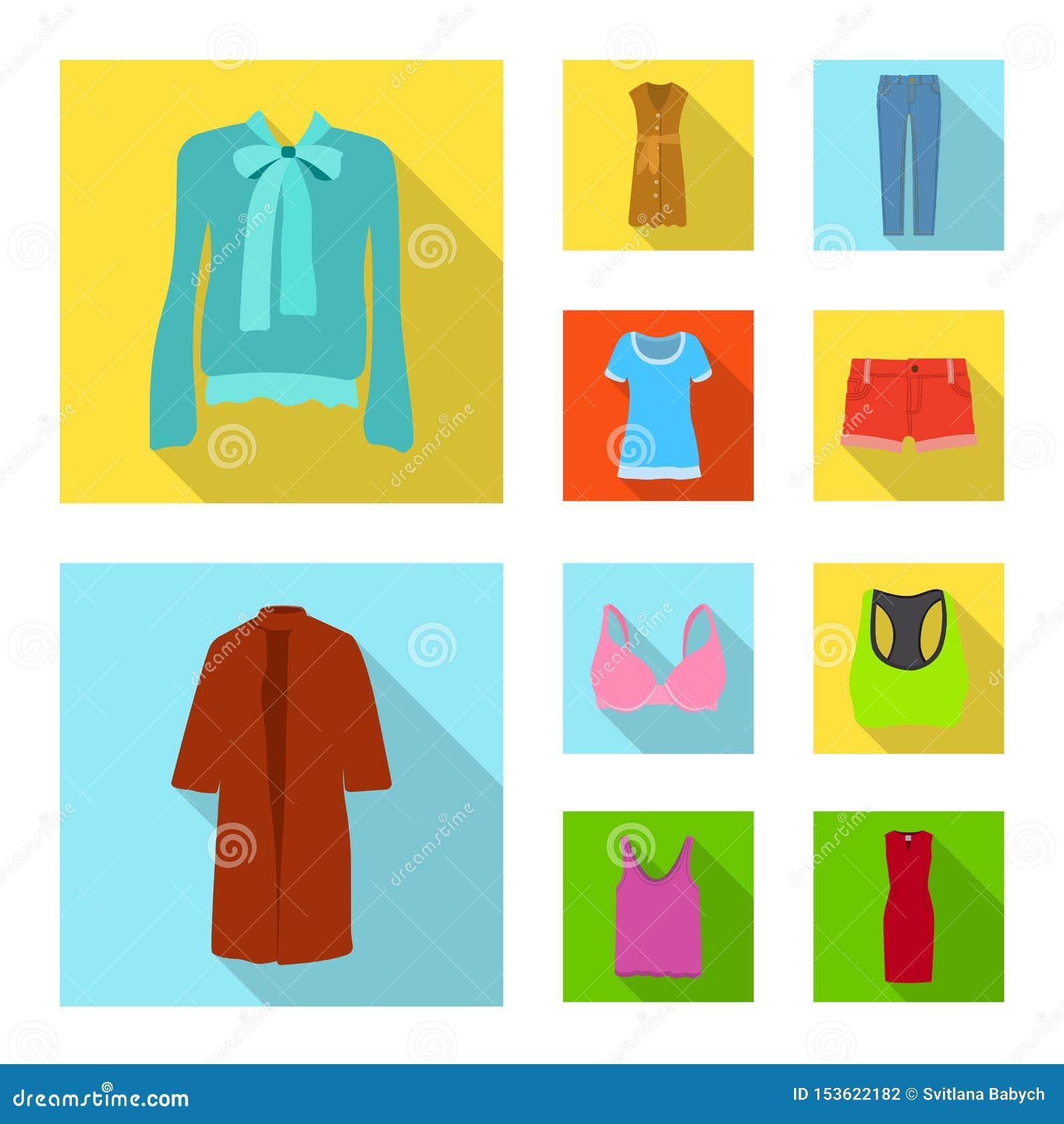 Illustration de vecteur de logo de femme et d habillement Ensemble de femme et de symbole boursier d usage pour le Web