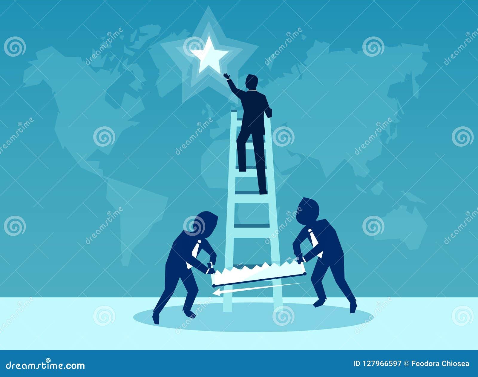 Illustration de vecteur pour le concept de rivalité d affaires