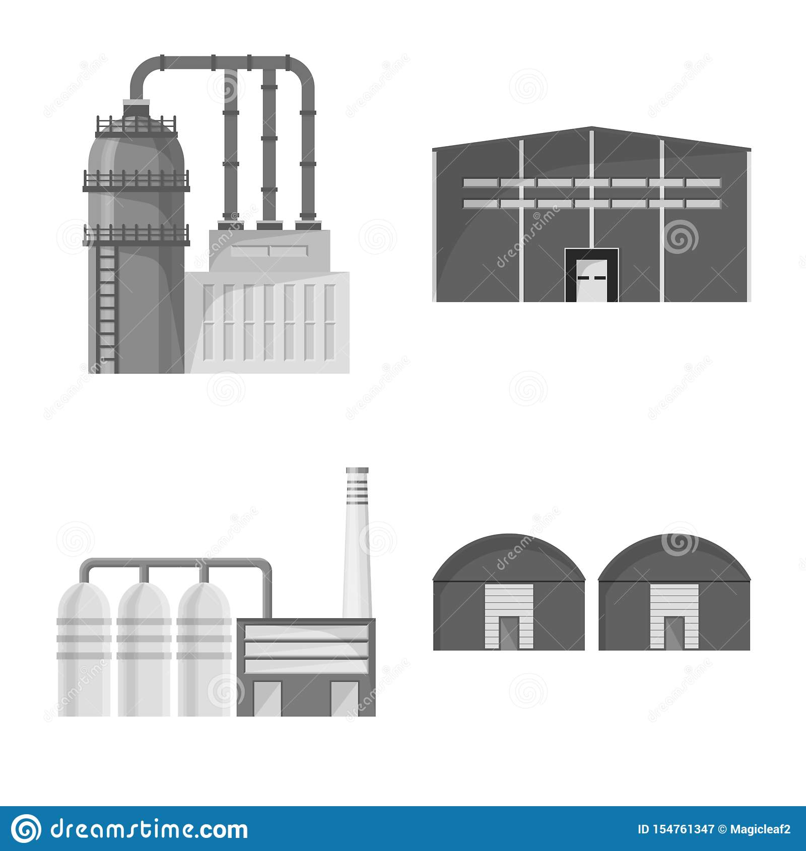 Illustration de vecteur de signe de production et de structure Placez du symbole boursier de production et de technologie pour le