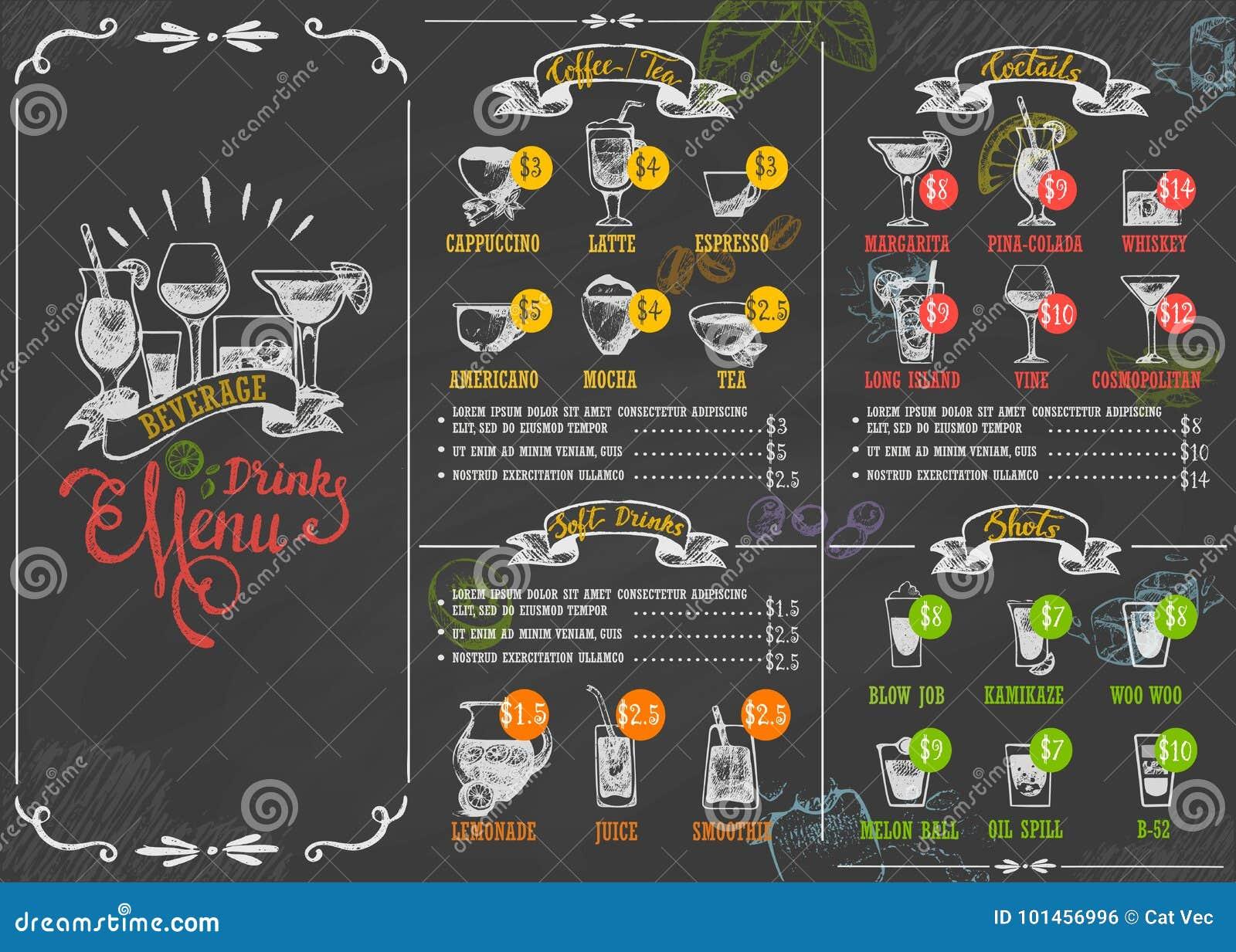 Illustration de vecteur de style de vintage de lettrage calligraphique de tableau d affiche de boissons de boisson de menu de res