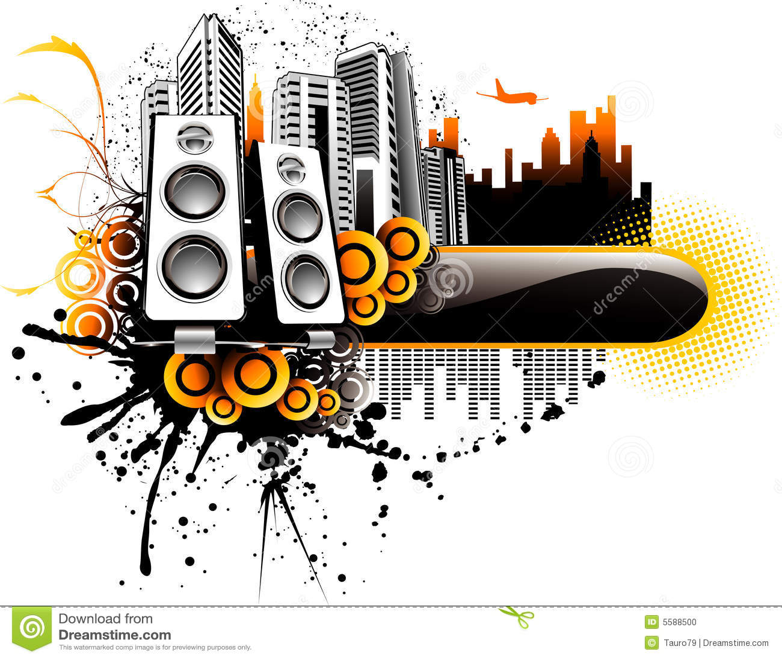 Illustration de ville de musique de vecteur photo stock for Musique piscine