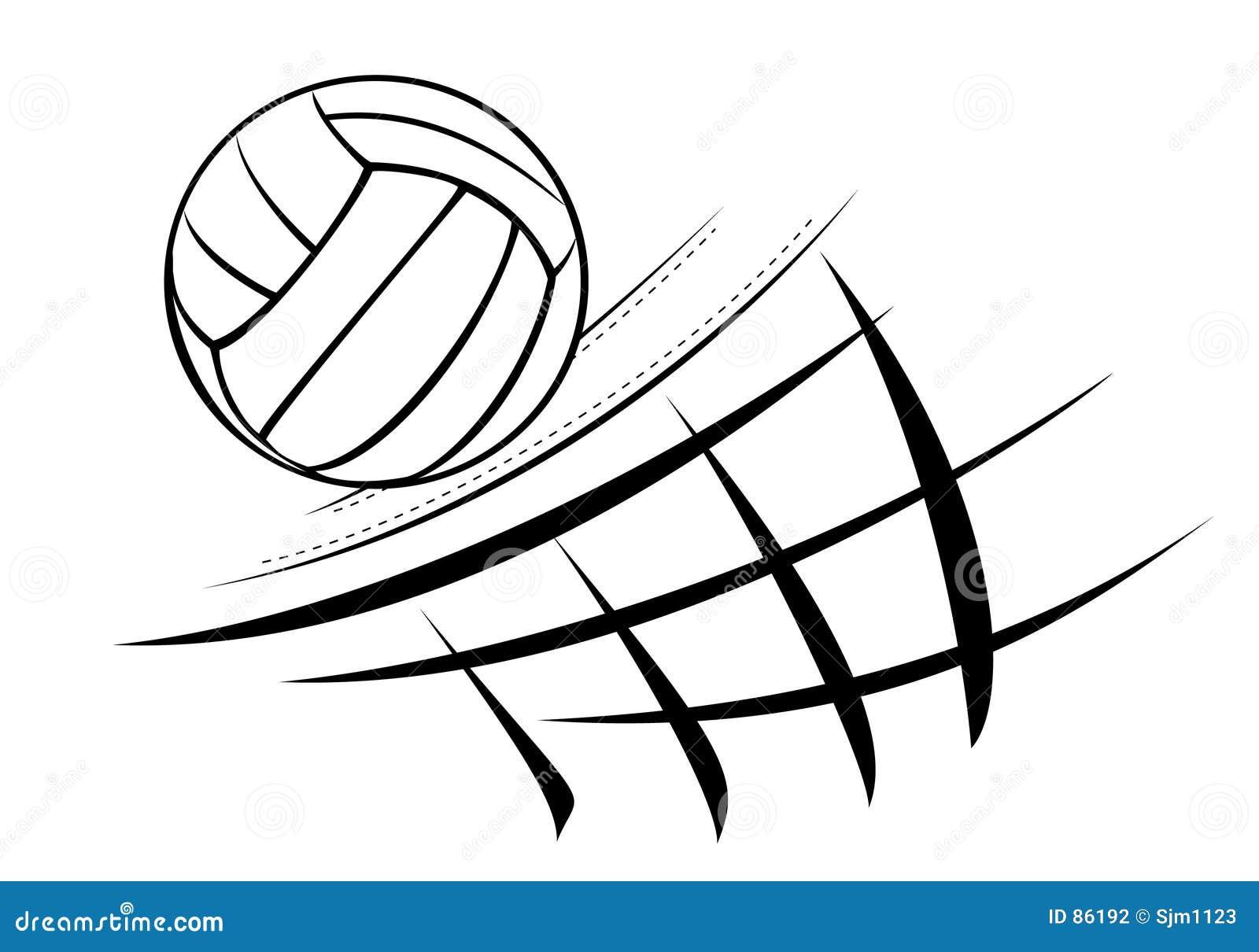 Illustration de volleyball
