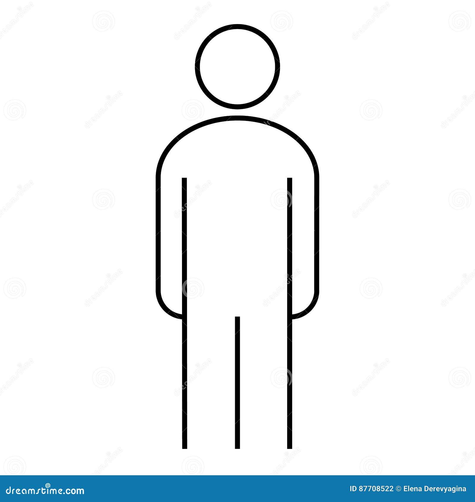 Illustration debout d homme d icône de découpe