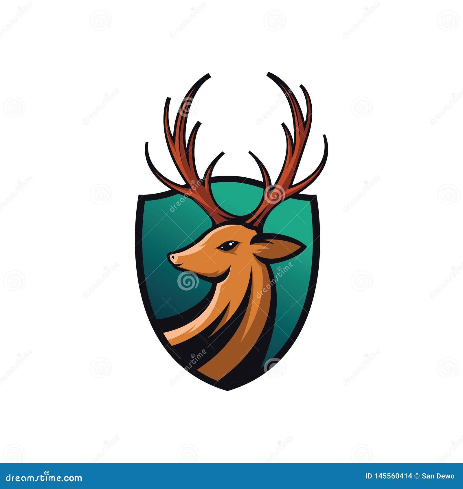Illustration of deer shields