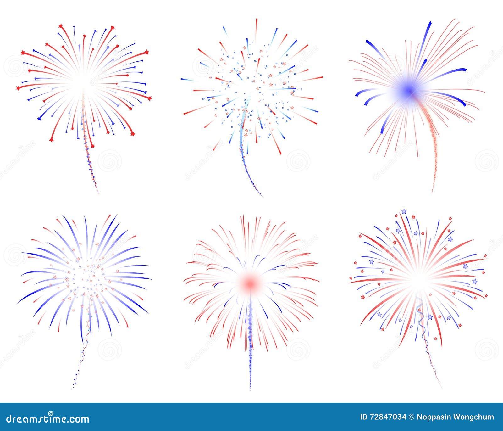 Illustration der Feuerwerke d