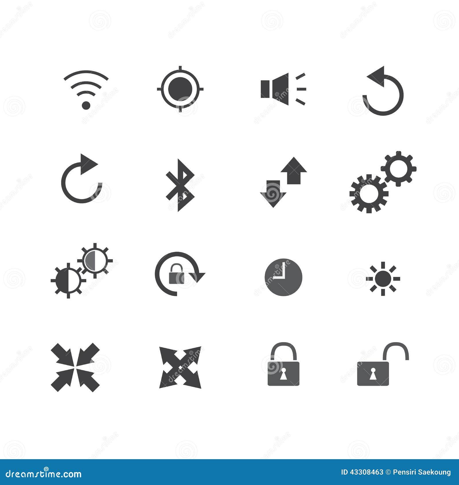 Illustration der Ikone des alten Telefons
