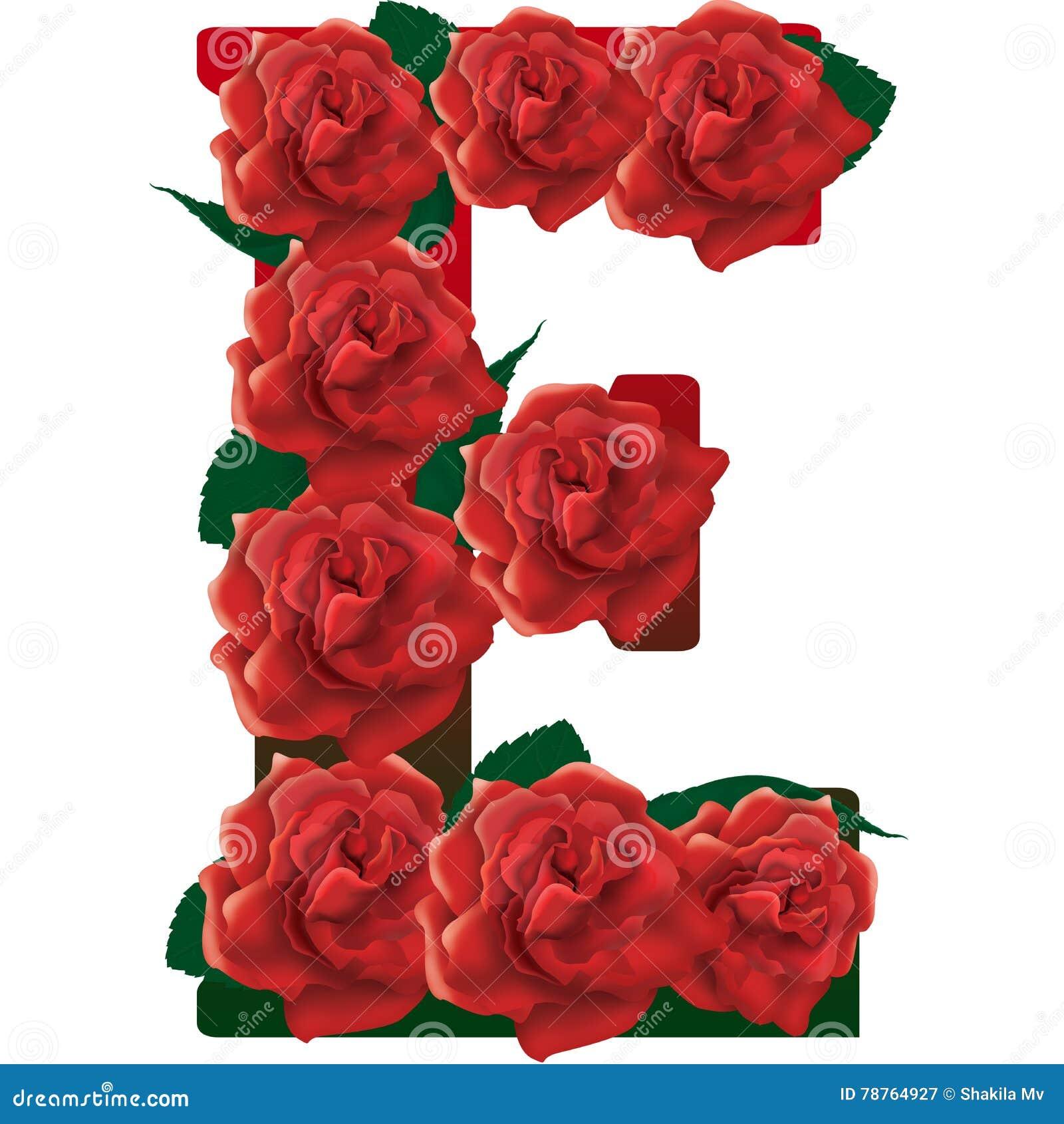 illustration der roten rosen des buchstaben e stockbild illustration von graffiti abbildungen. Black Bedroom Furniture Sets. Home Design Ideas