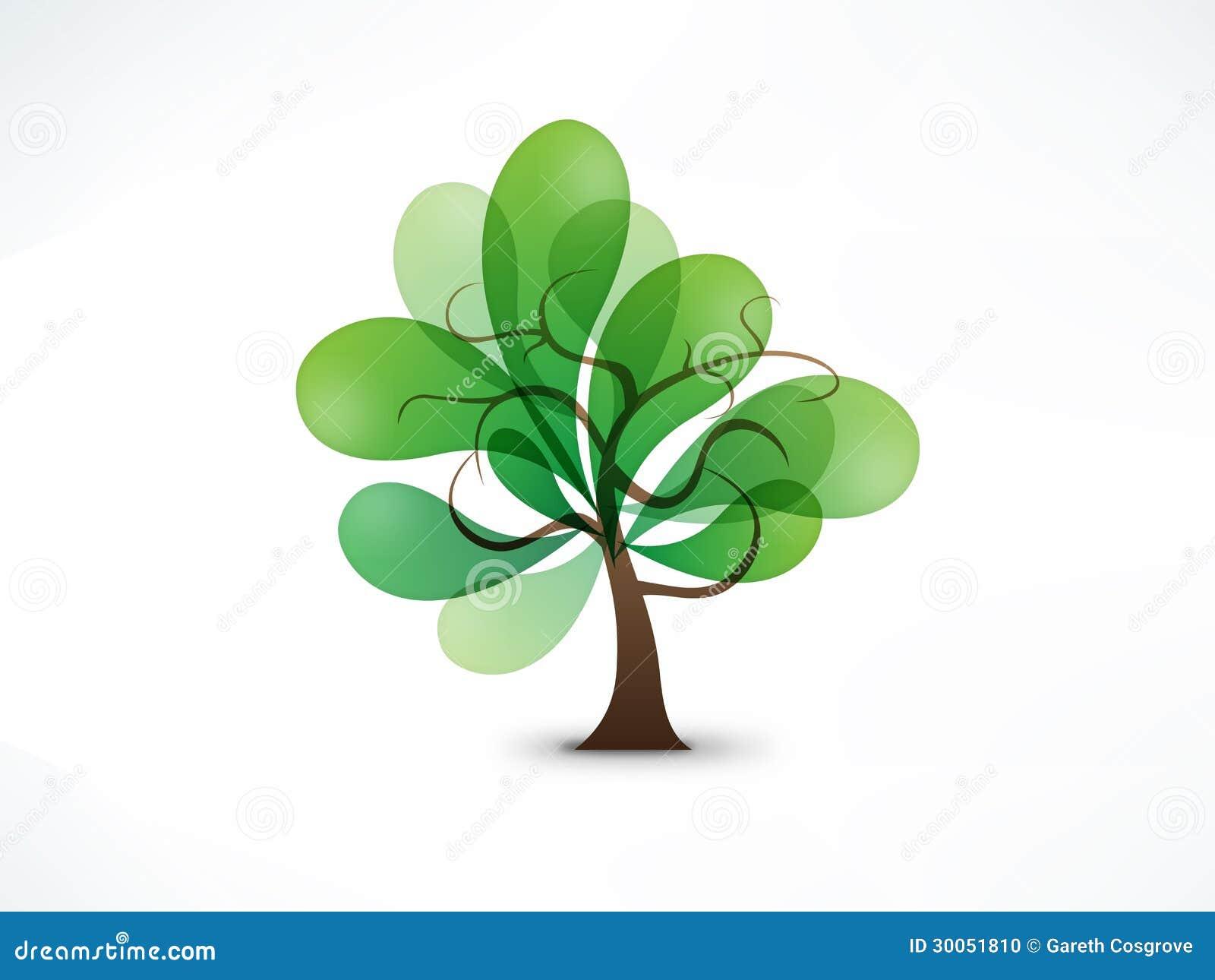 Abstraktes Baumzeichen