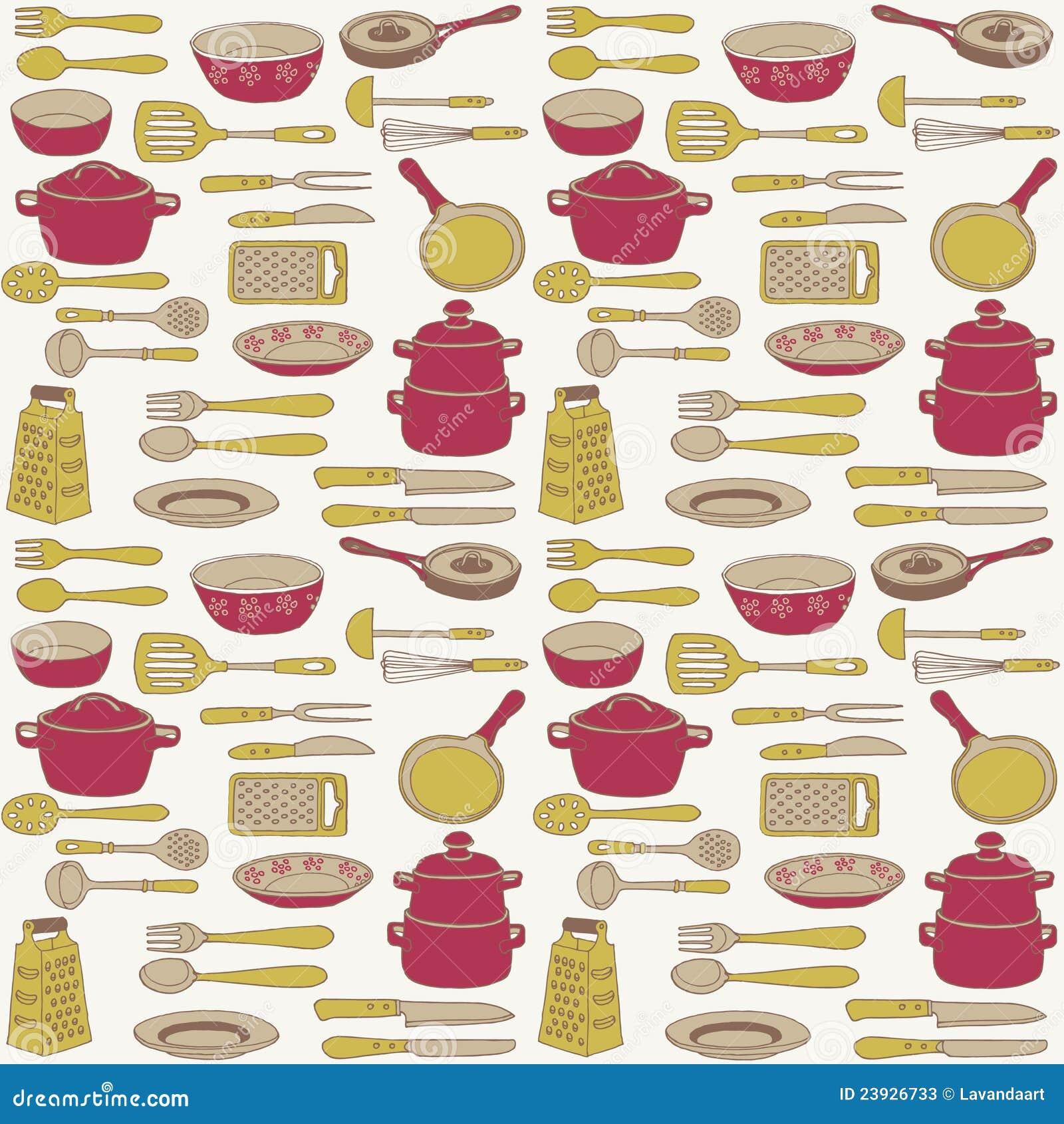 illustration des articles et des ustensiles de cuisine photos