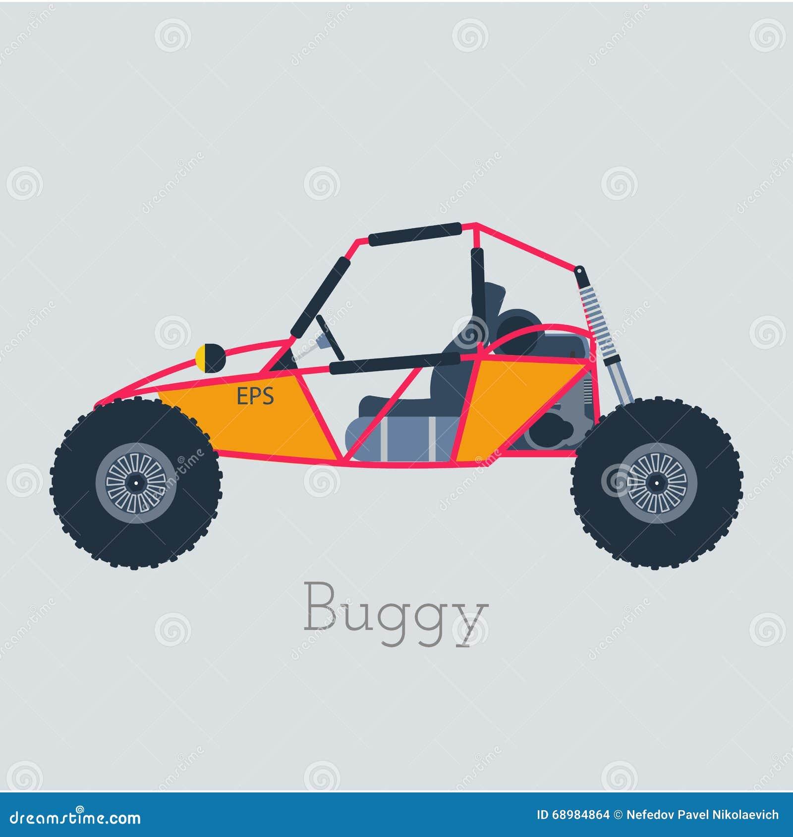 Illustration Des Buggys 4x4 Nicht Für Den Straßenverkehr Verwanztes ...