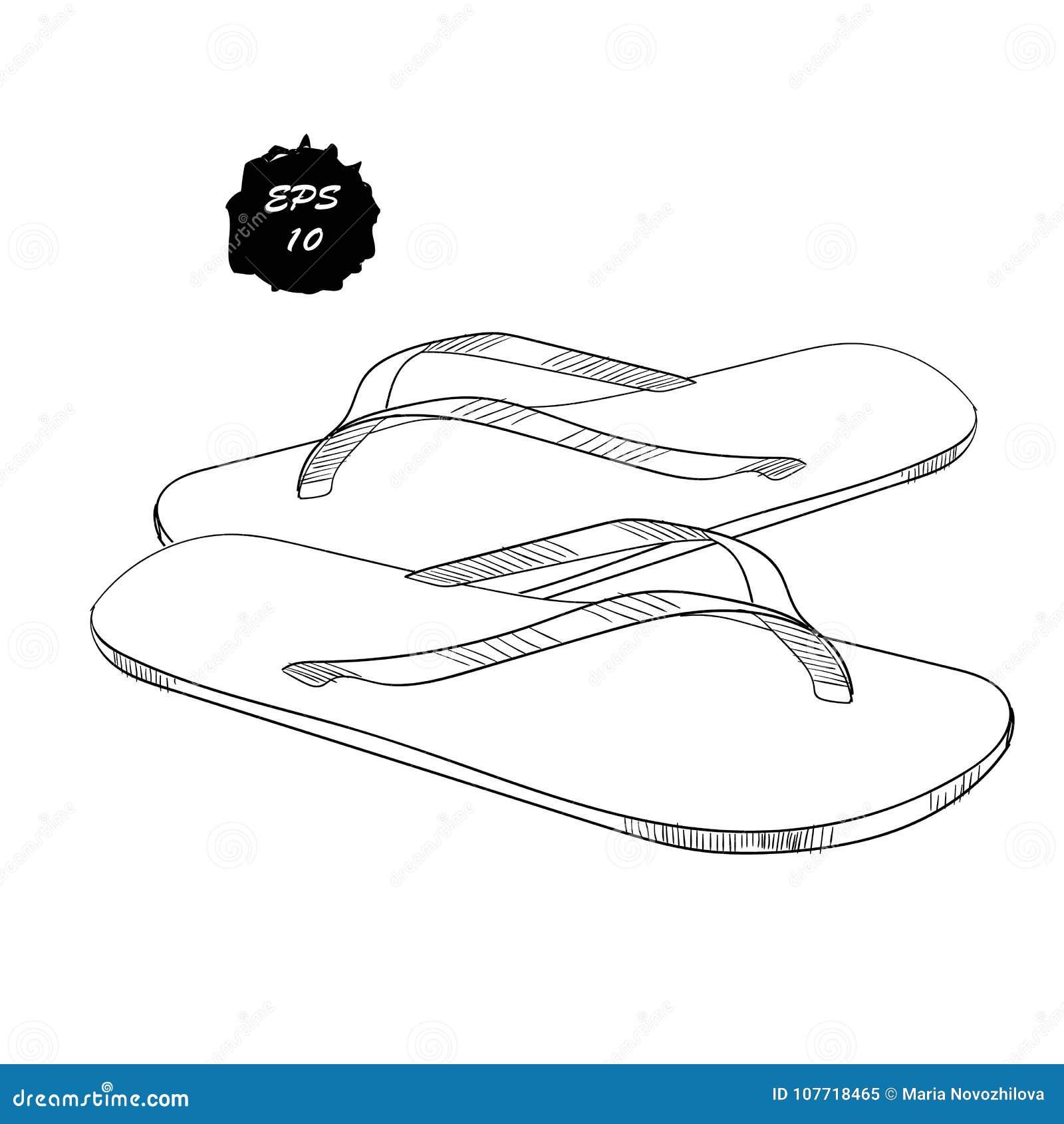 De Sandale Illustration D'objets D'isolement Chaussures Des tRUqf6