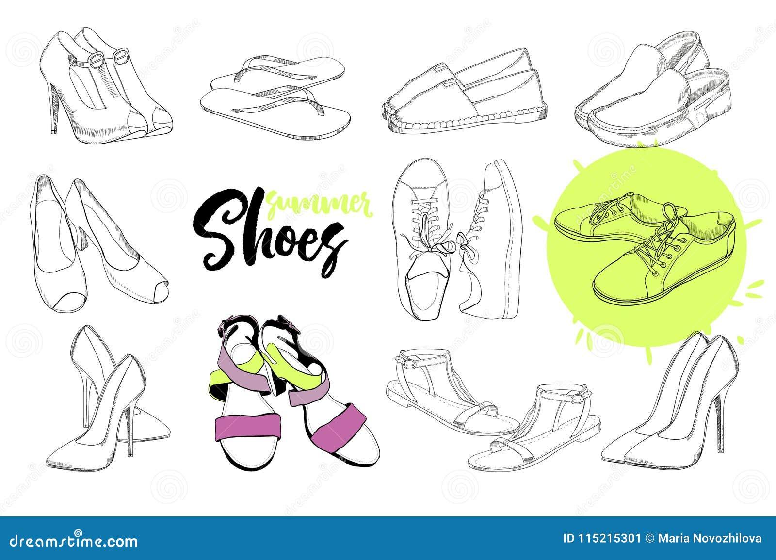 D'isolement D'objets Chaussures De Illustration Sandale Des y0N8Ovmwn