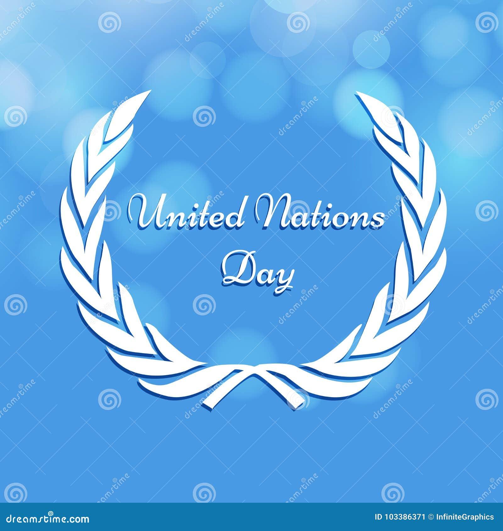 Illustration des Hintergrundes der Vereinten Nationen Tages