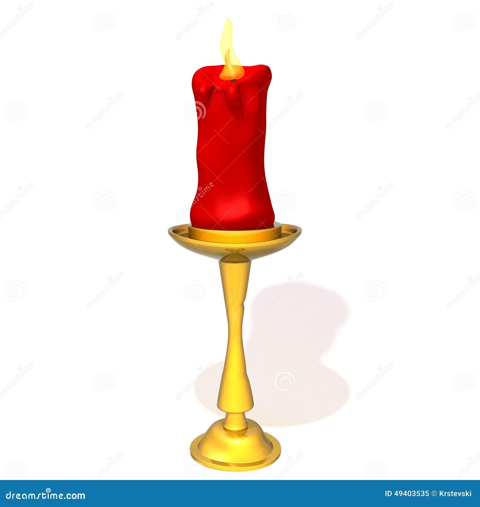 Download Illustration Des Kerzen-helle Halters 3d Stock Abbildung - Illustration von hintergrund, brand: 49403535