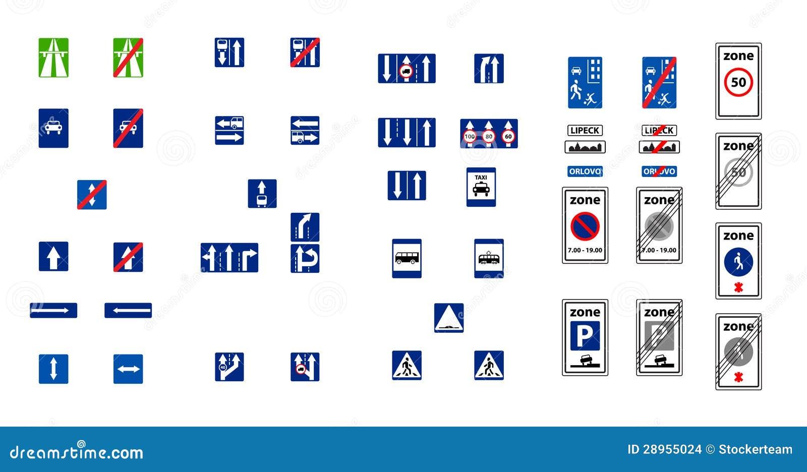 illustration des panneaux routiers de bleu de rectangle images stock image 28955024. Black Bedroom Furniture Sets. Home Design Ideas