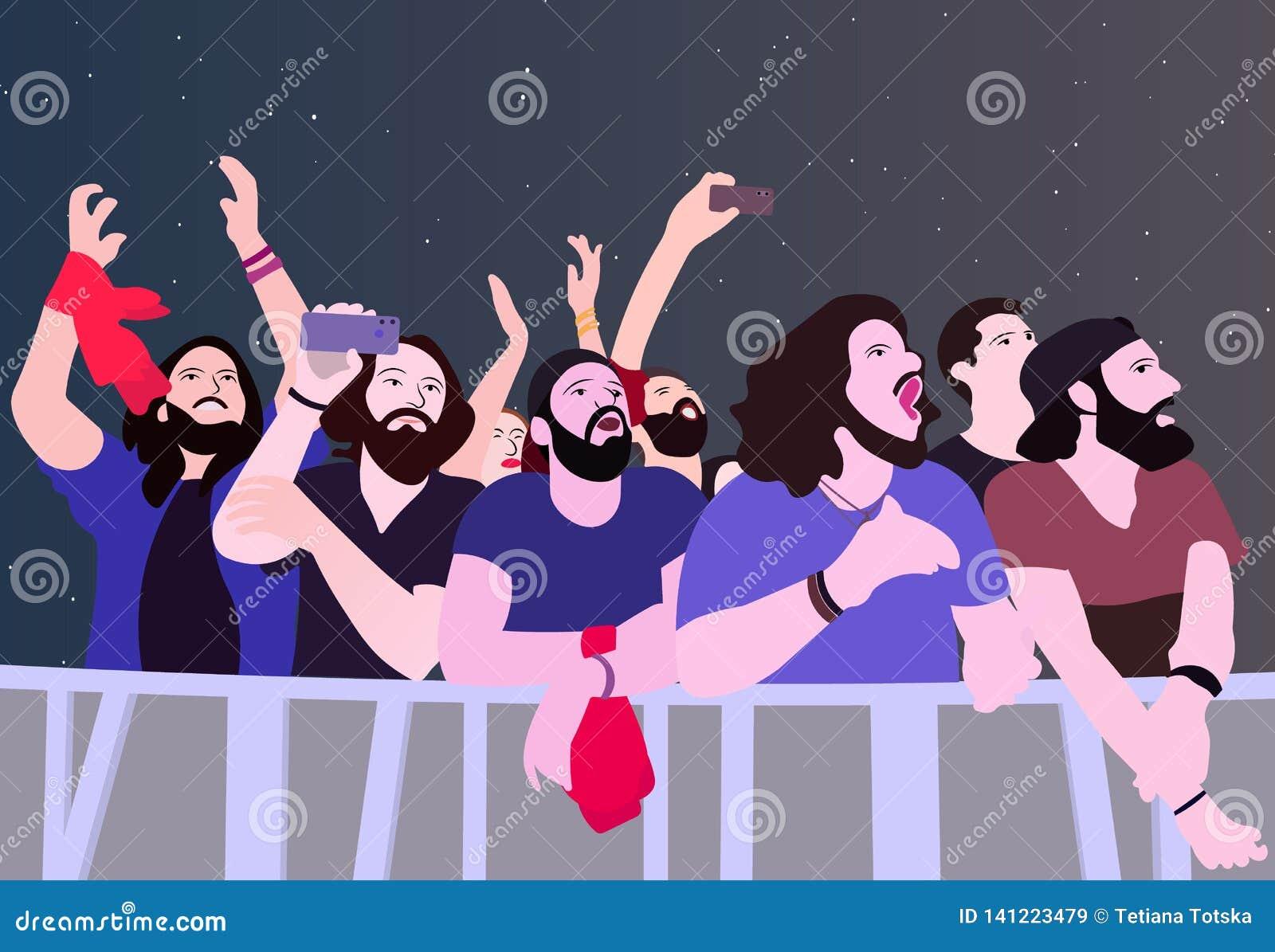 Illustration des personnes faisant la fête en couleurs