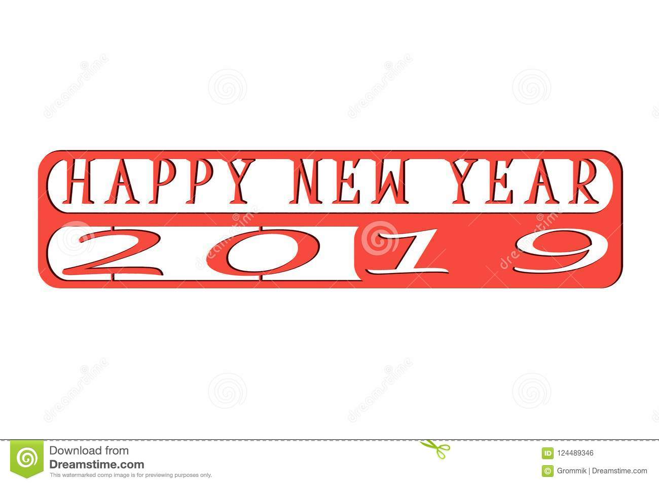 Illustration for new year greetings on white background stock download illustration for new year greetings on white background stock illustration illustration of gradient m4hsunfo