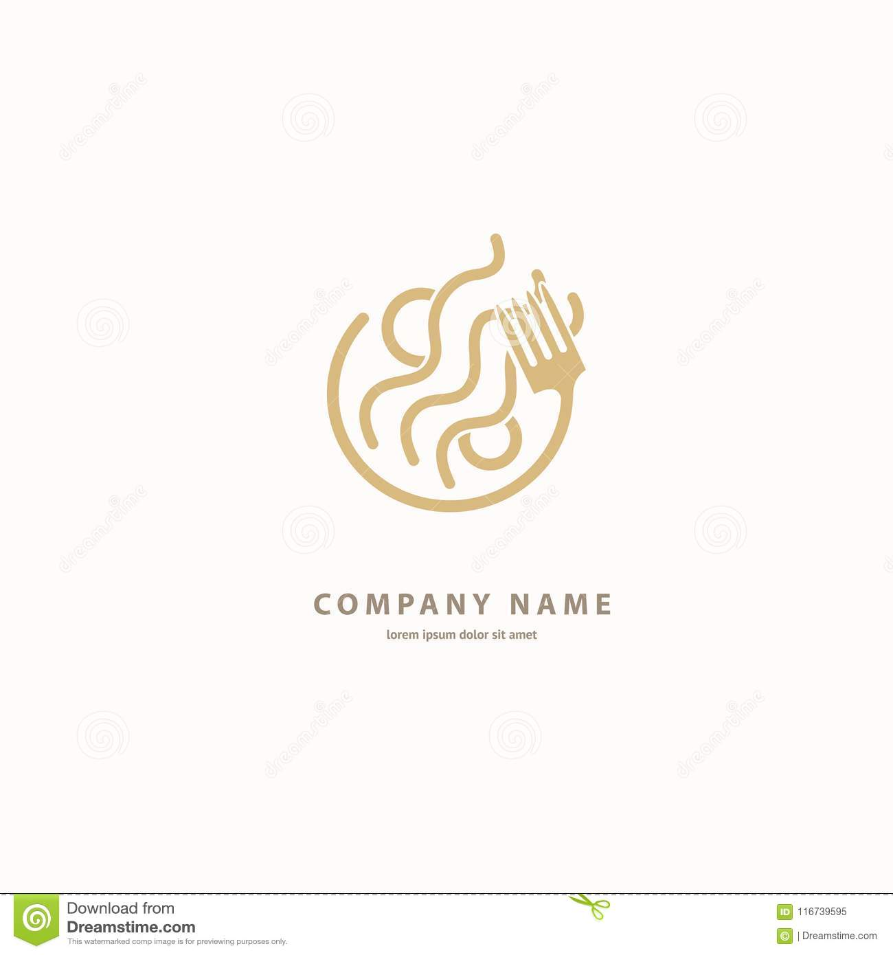 Vector Stock Logo Abstract Pasta Vector Template Stock Illustration Illustration Of Meal Cooking 116739595