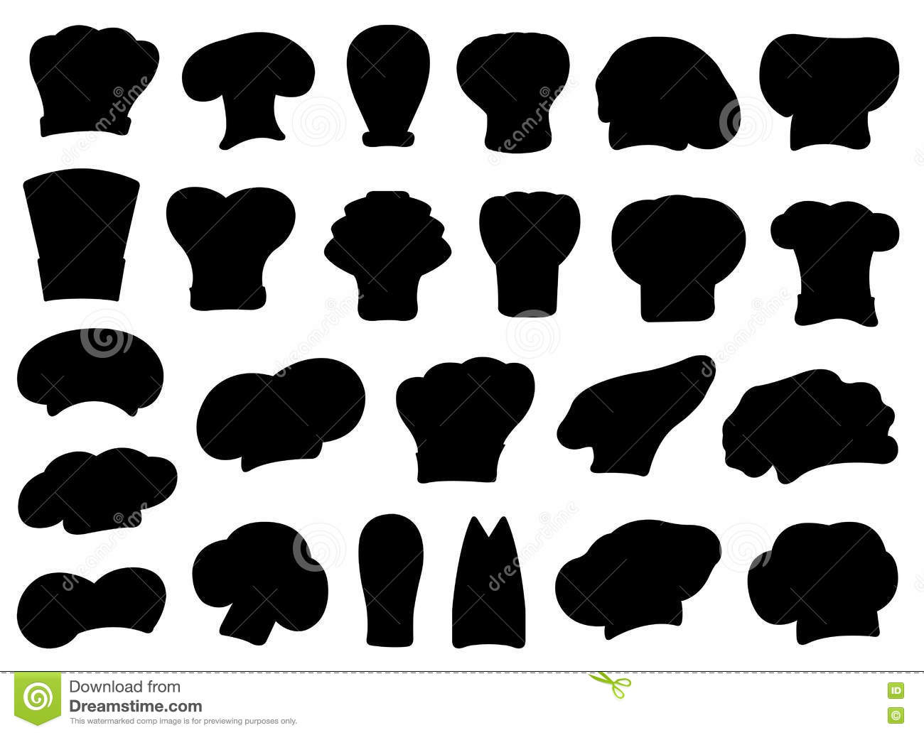 f8ea79ad Illustration Of Different Chef Hats Stock Vector - Illustration of ...
