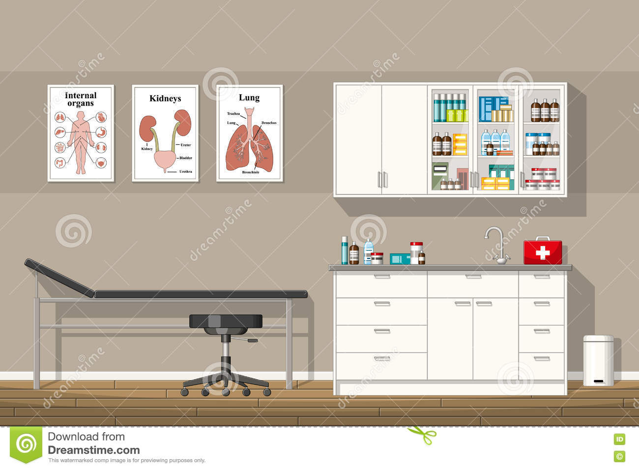 Illustration Of A Doctor Office Stock Vector - Image: 73454728