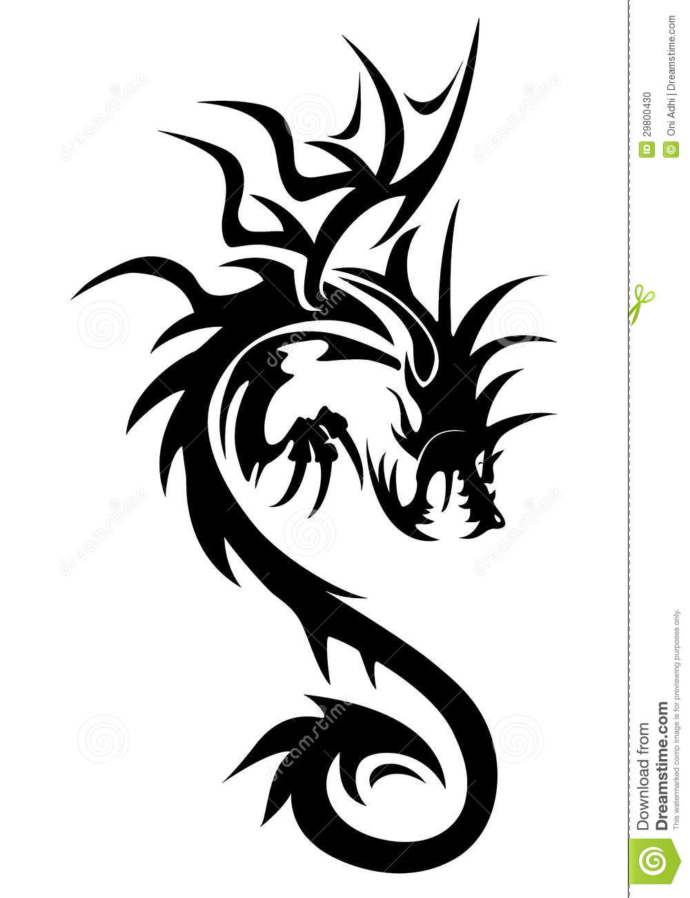 Dragon Symbol Stock Illustration Illustration Of Beast 29800430