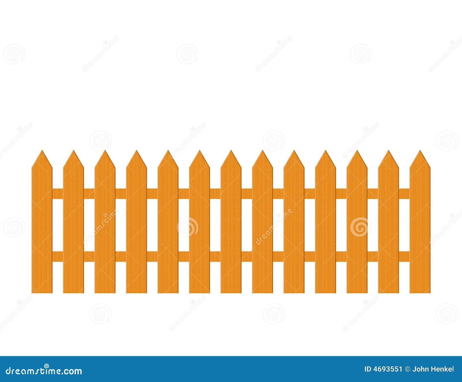 Illustration du bois de frontière de sécurité de piquet