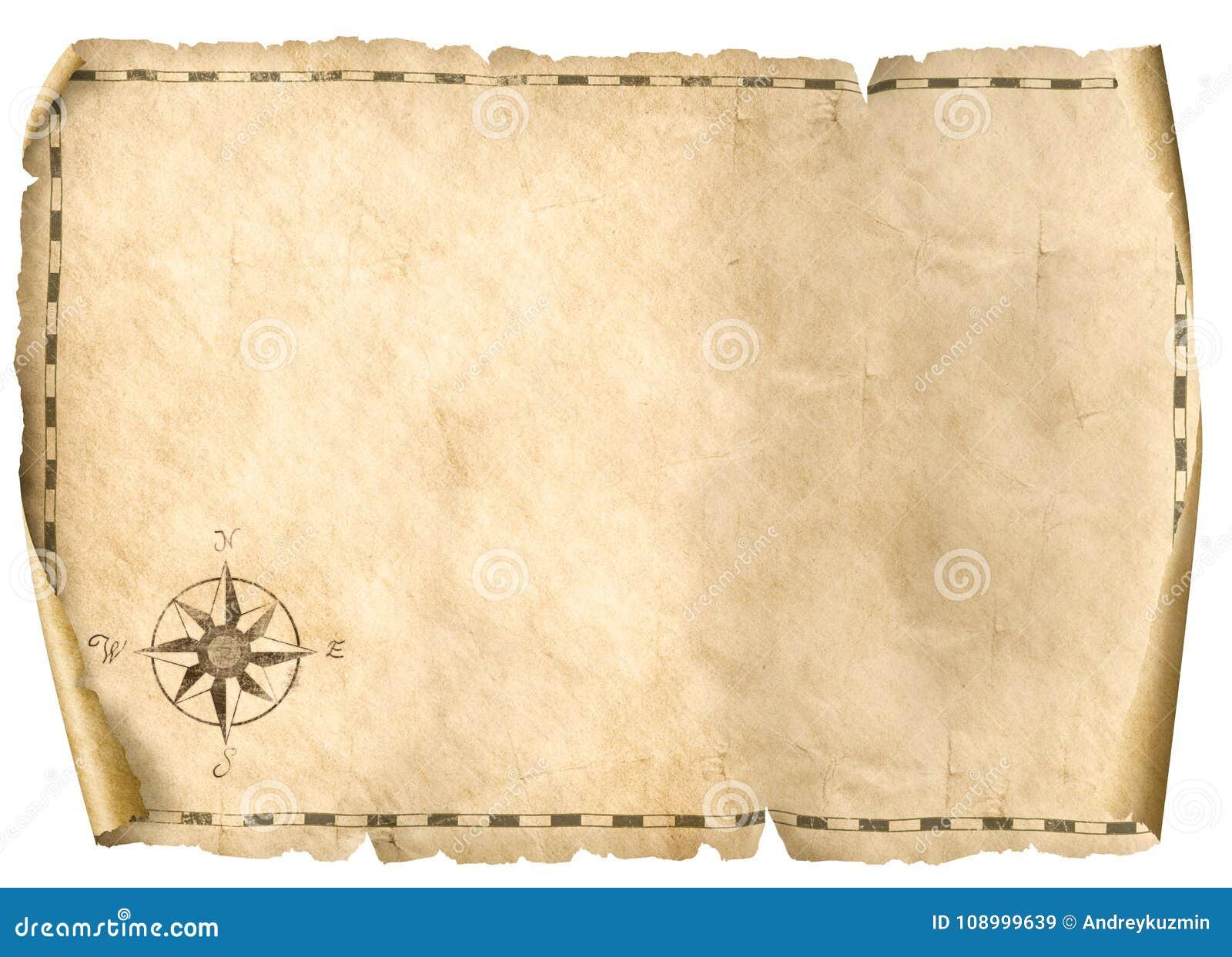 carte au trésor vide Illustration Du Fond D'isolement Par Carte Vide 3d De Trésor