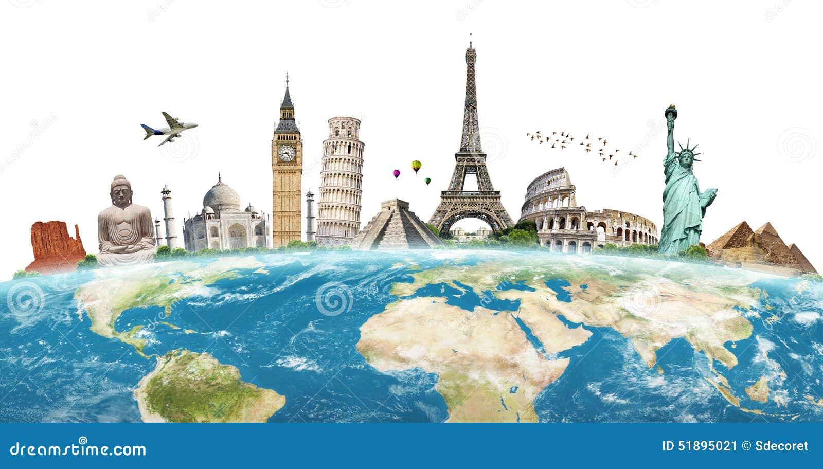 Illustration du monument c l bre du monde photo stock for Les monuments les plus connus du monde