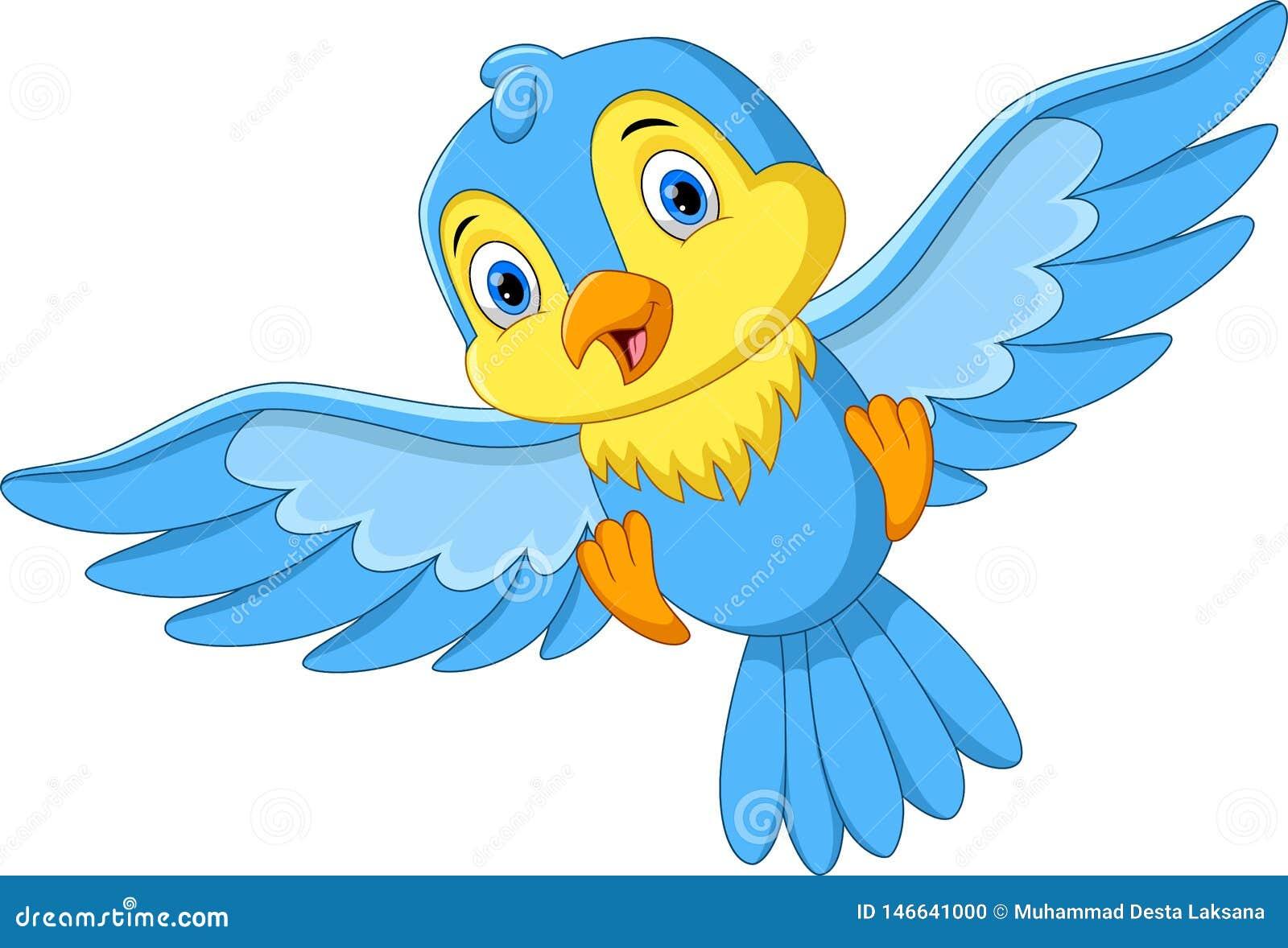 Illustration du petit vol d oiseau de bande dessinée mignonne