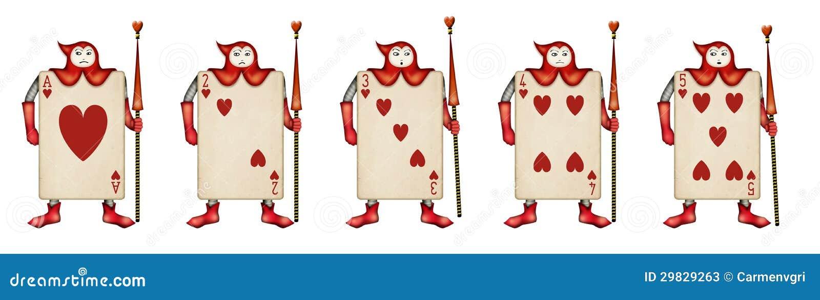 Illustration du soldat de carte des trois de clubs d Alice au pays des