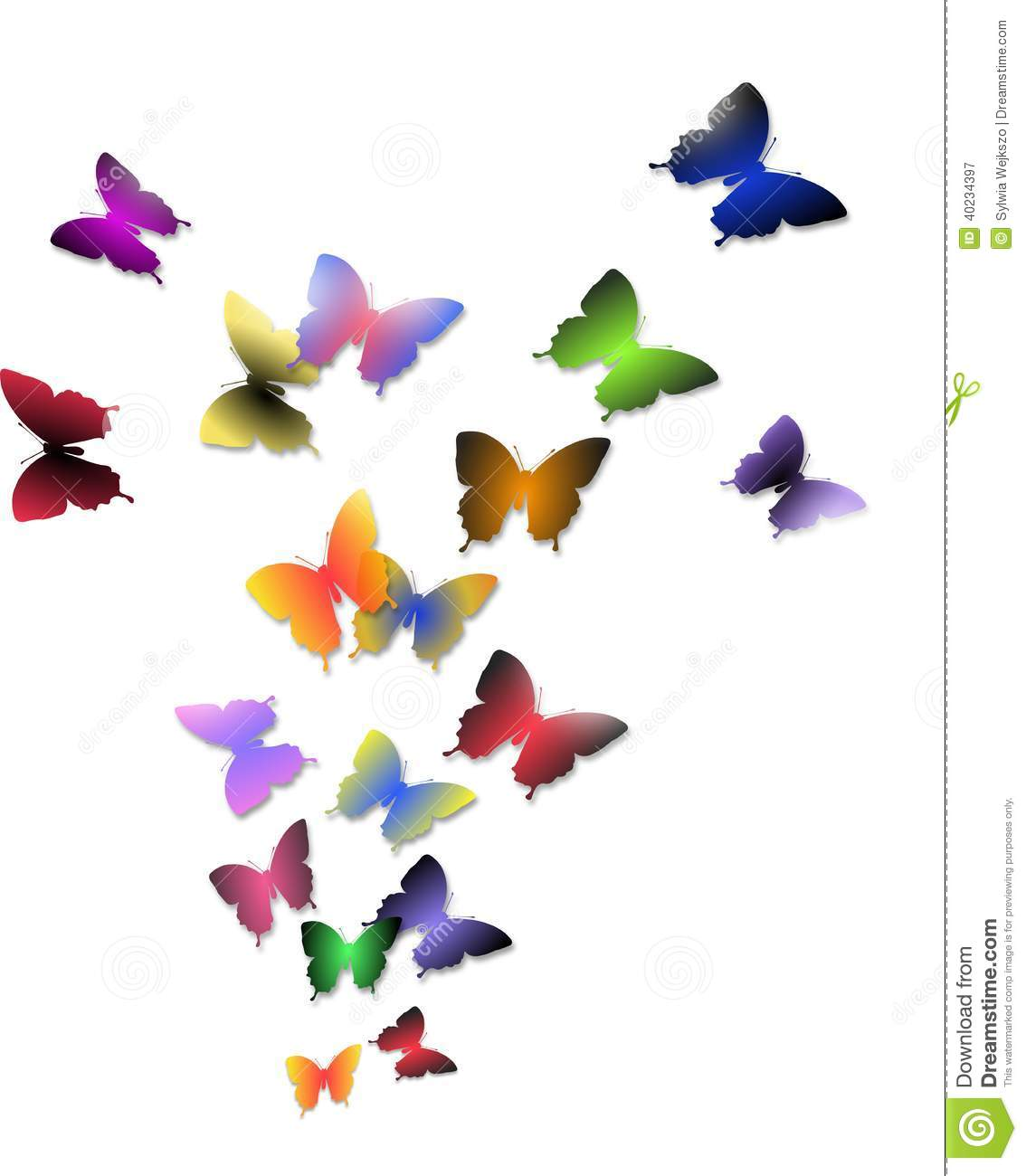 Illustration du vol des papillons color s illustration - Images de papillons gratuites ...