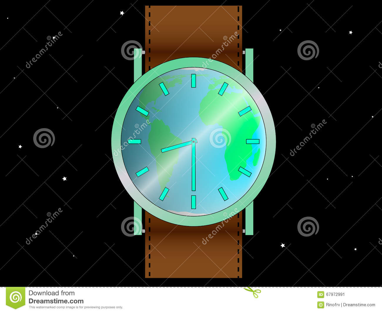 Illustration of earth hour stock vector. Image of ...