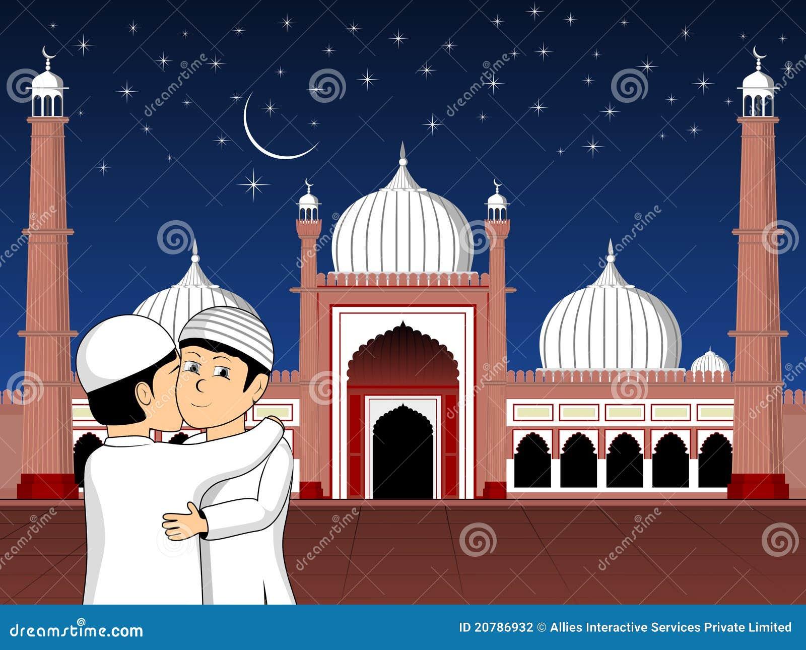 Illustration For Eid Mubarak Celebration Stock Photography - Image ...