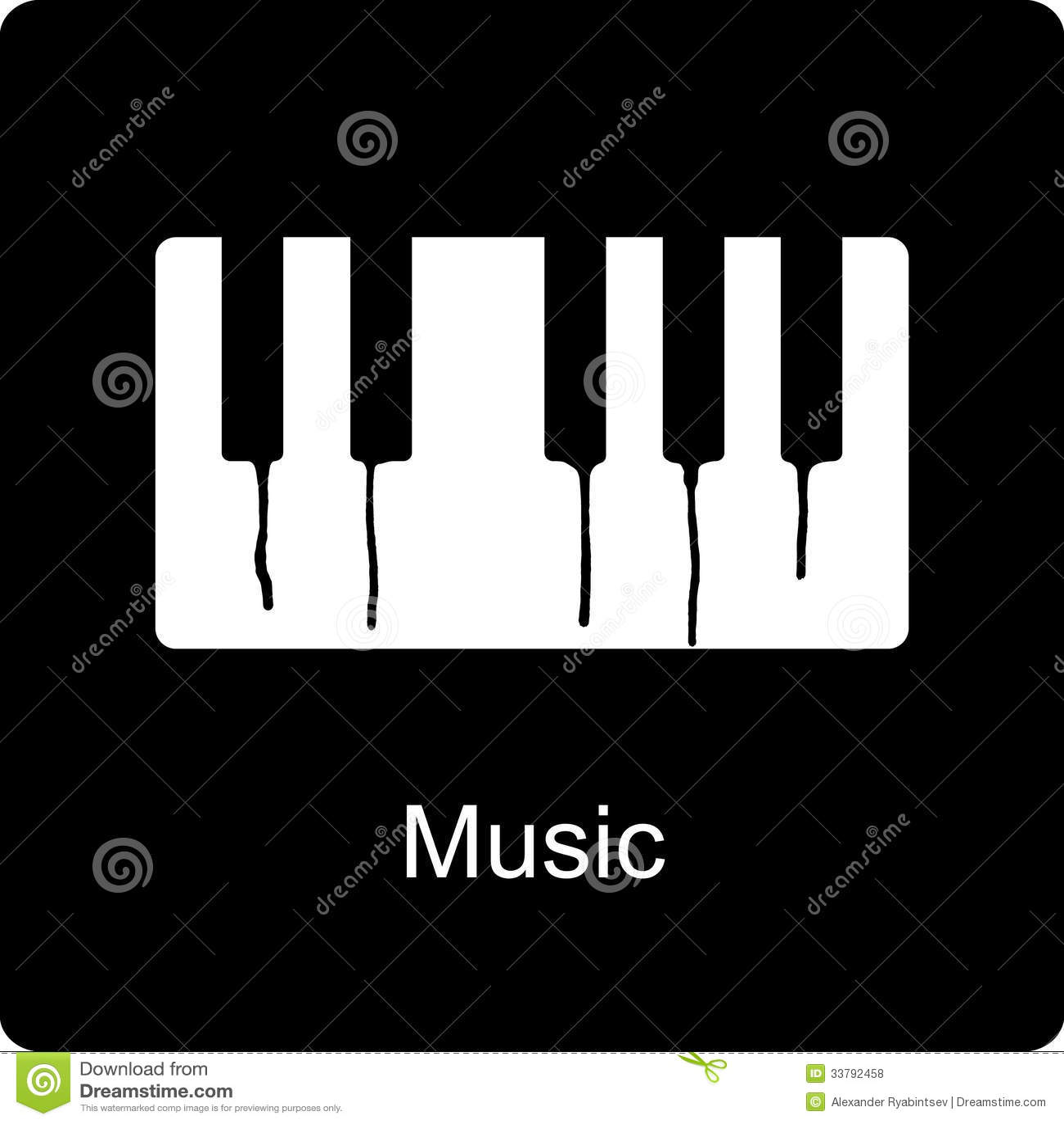 Illustration einer Musikikone, mit Klavier