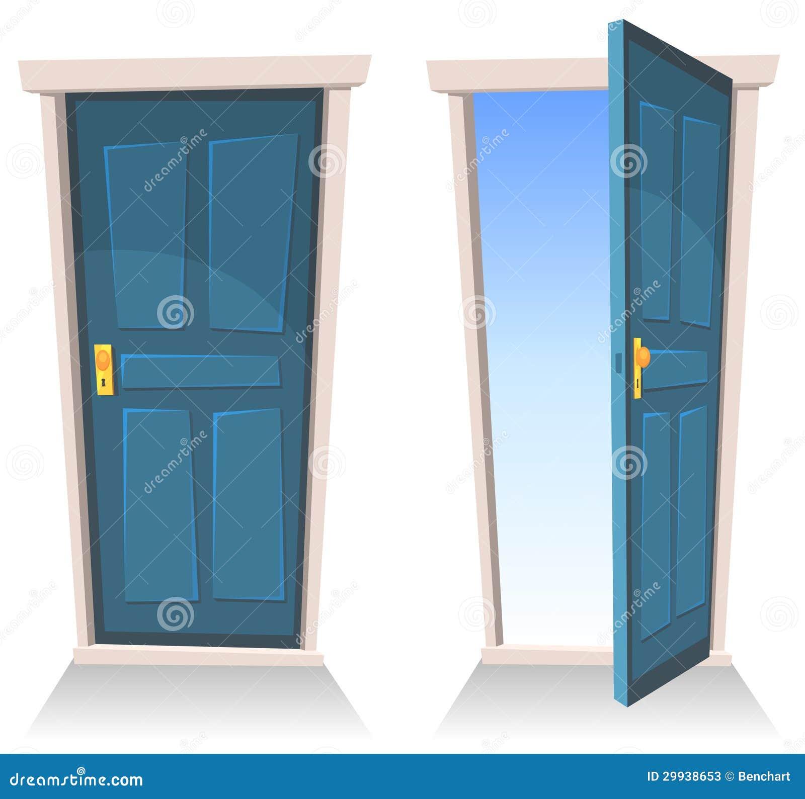 Geöffnete haustür  Die Türen, Geschlossen Und öffnen Sich Stockfotos - Bild: 29938653