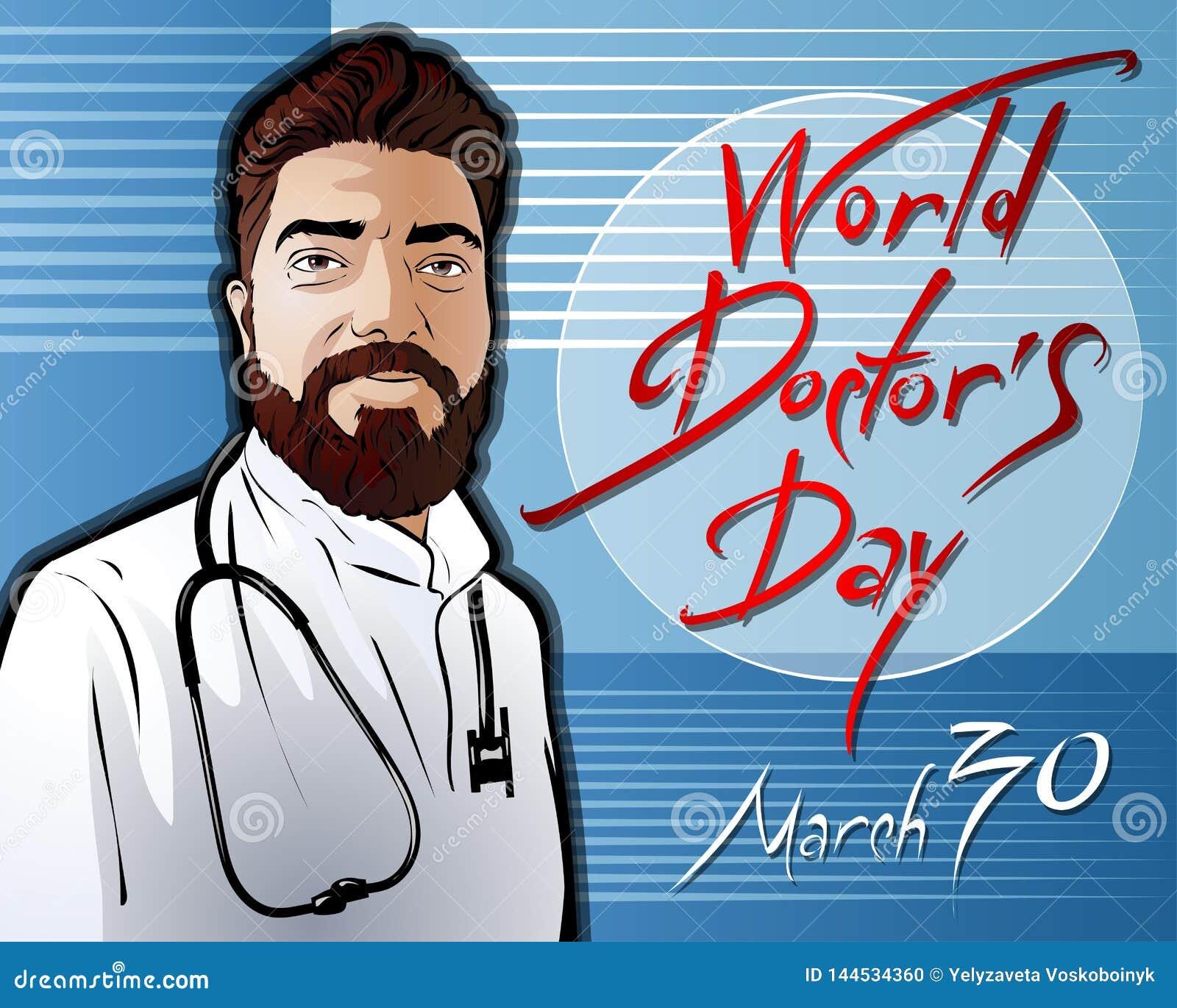 Illustration eingeweiht dem Weltdoktor Day