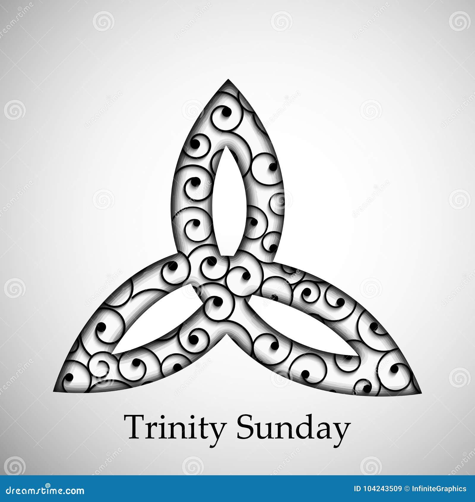 Illustration Of Trinity Sunday Background Stock Vector