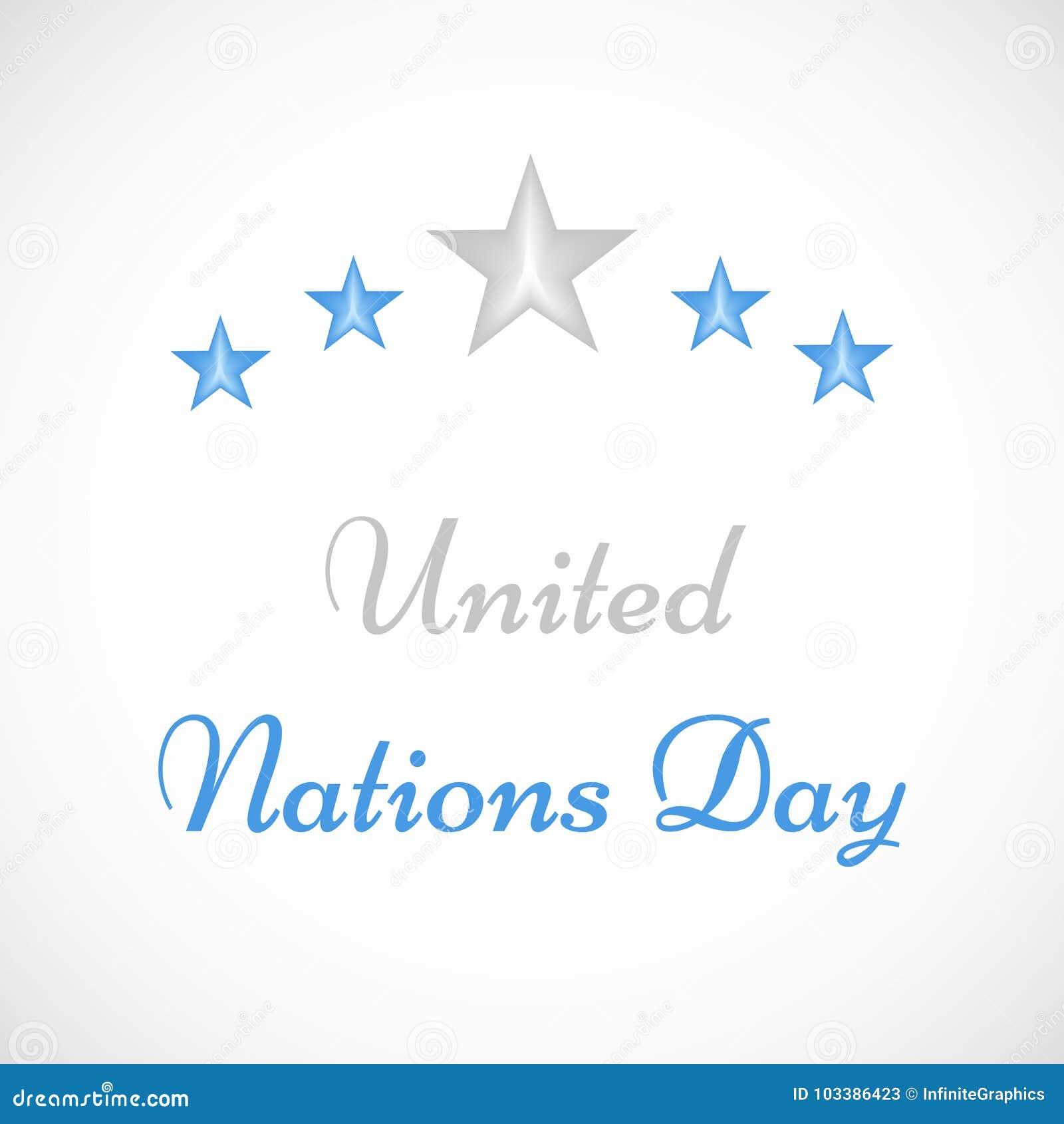 Illustration of United Nations Day Background