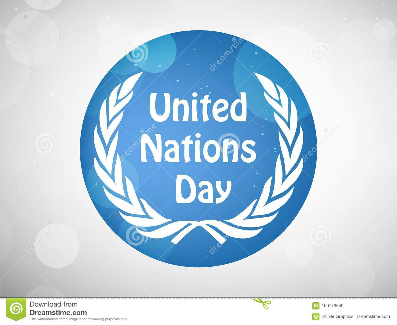 Illustration of United Nations Day Background