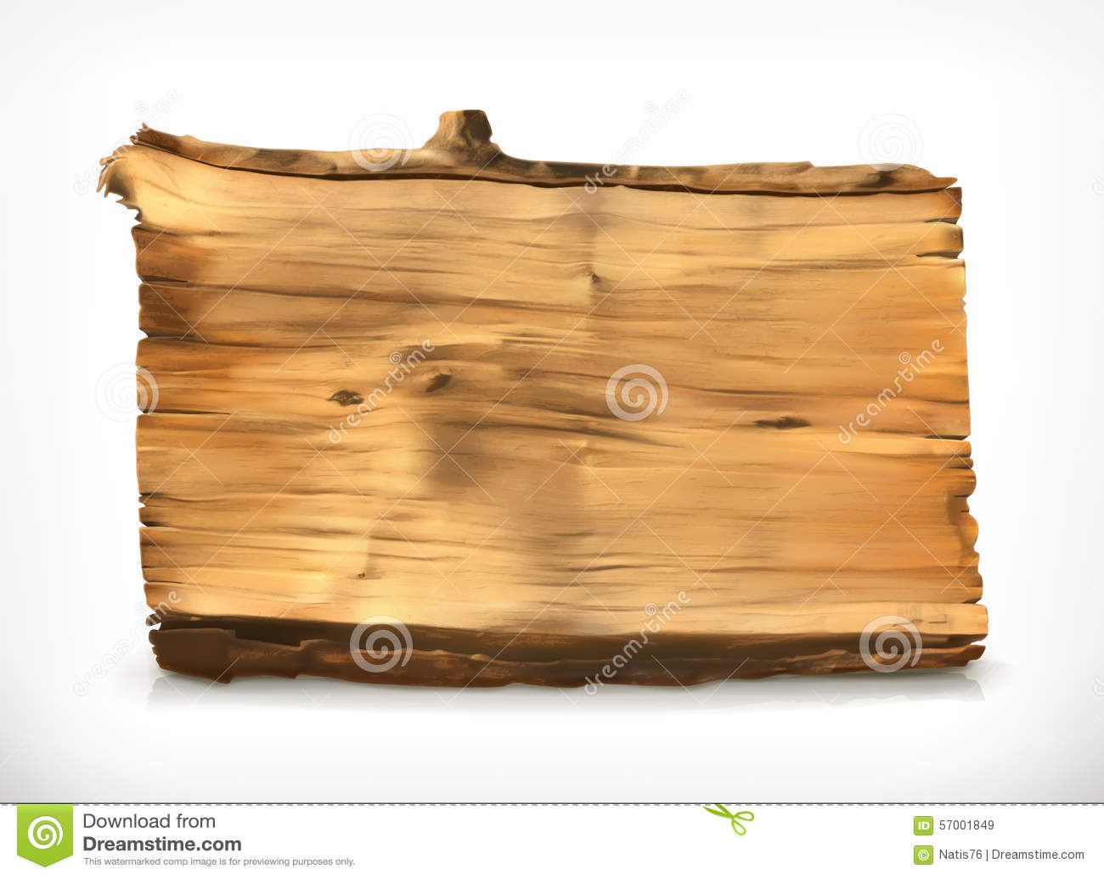 Illustration en bois de vecteur de bannière
