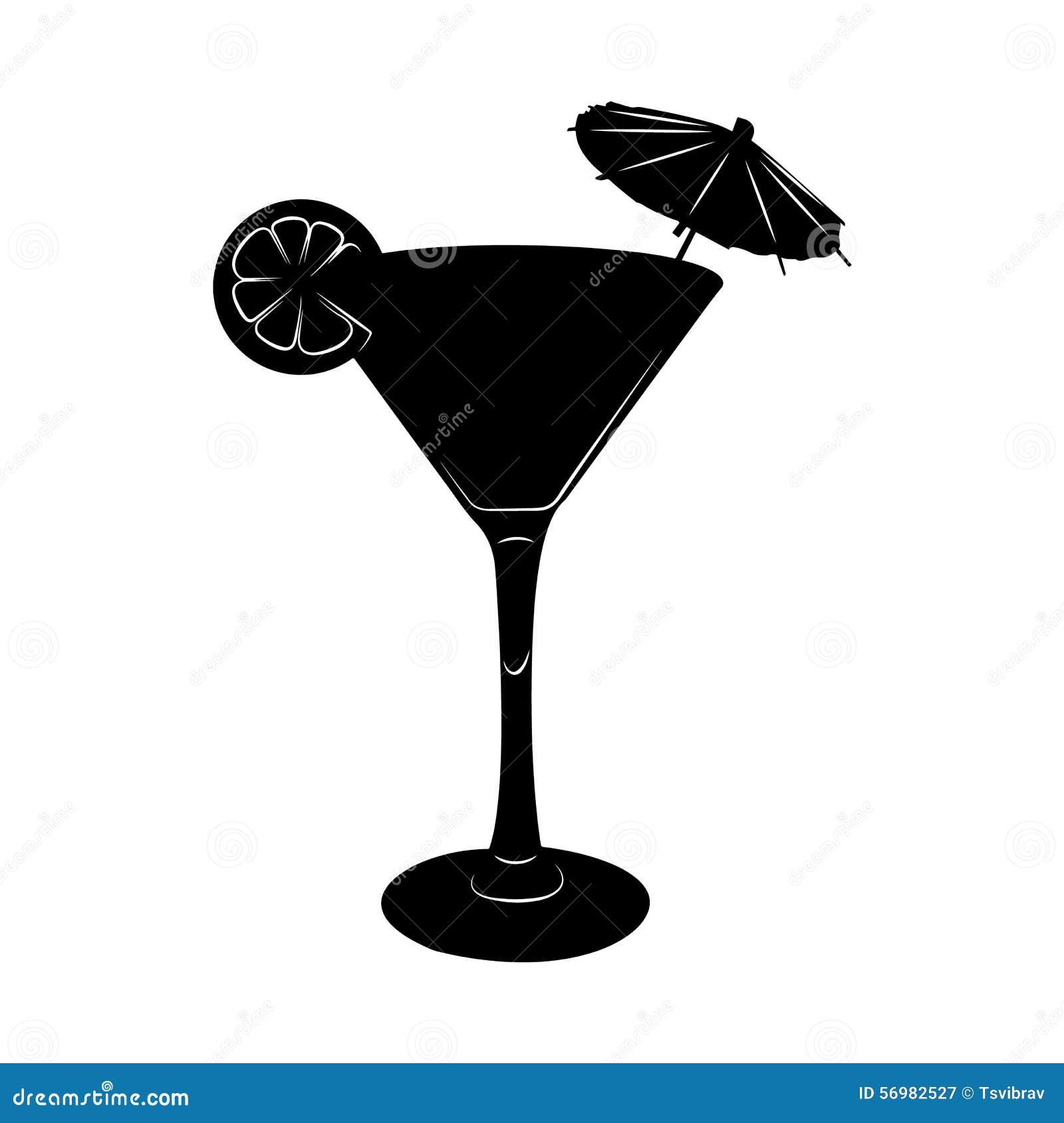 Très Illustration En Verre De Cocktail De Martini Avec Le Parapluie Et  UJ09