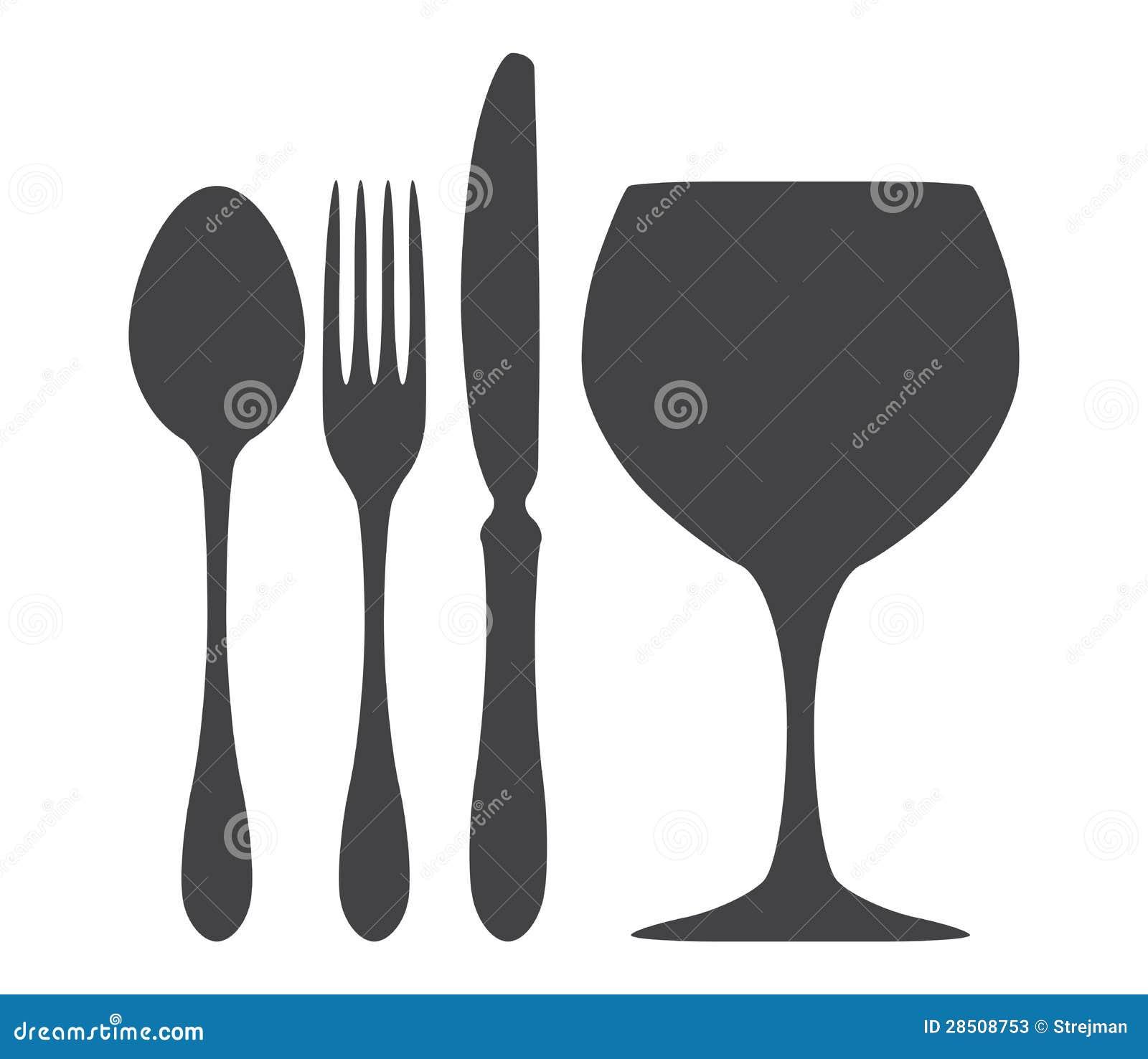 illustration en verre de fourchette de couteau de cuill re. Black Bedroom Furniture Sets. Home Design Ideas