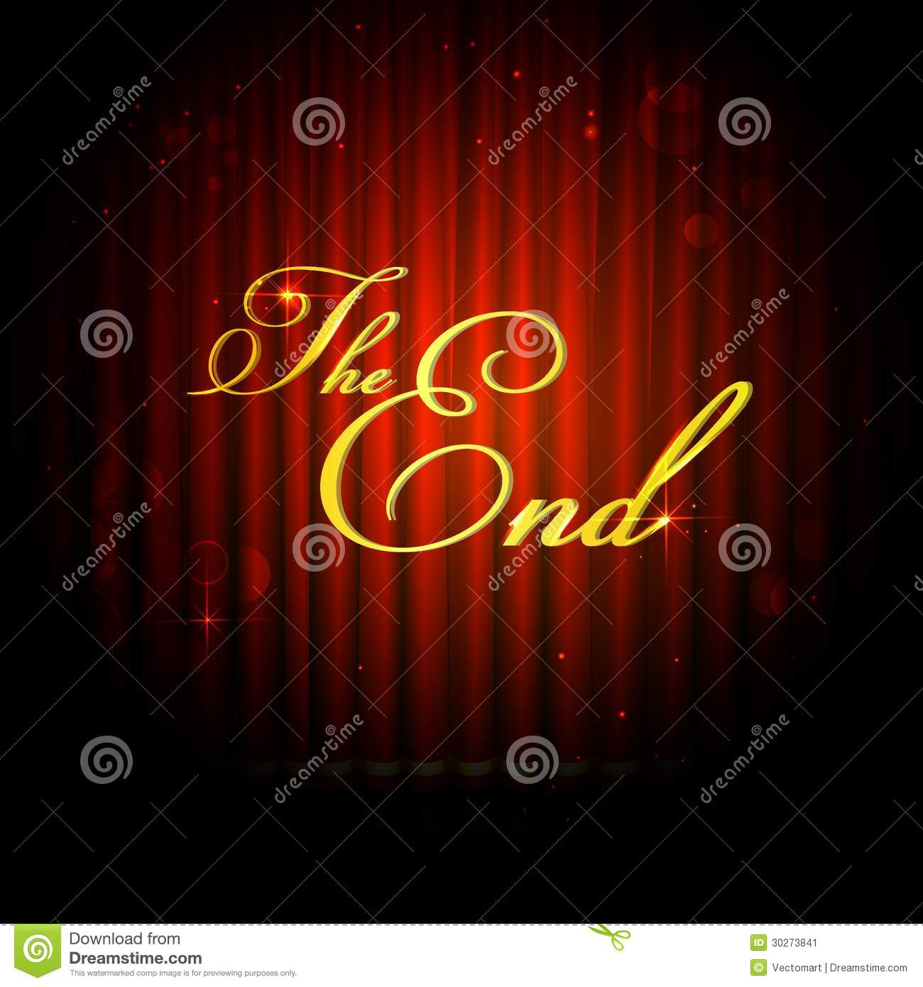The End On Curtain Stock Image Image 30273841