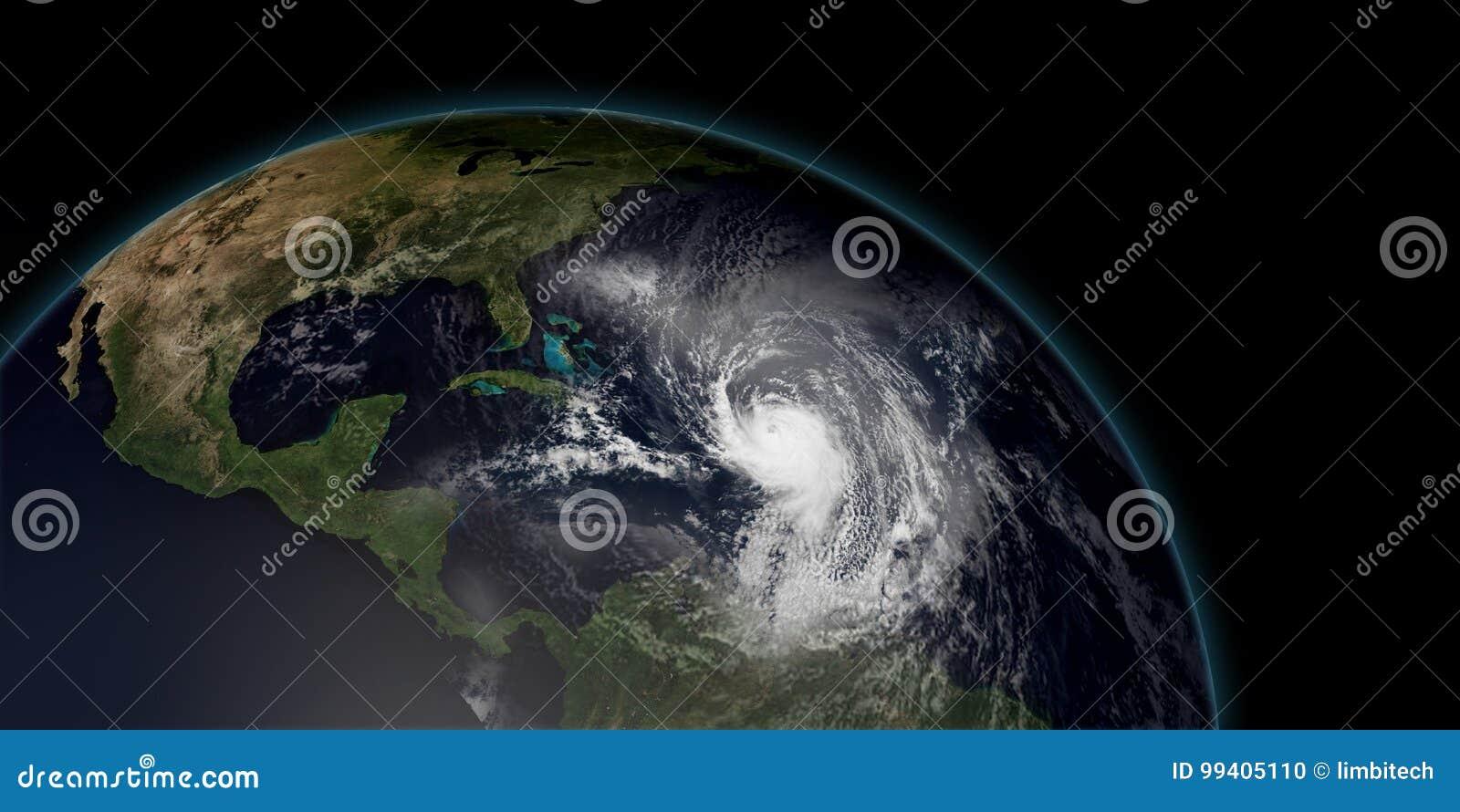 Illustration extrêmement détaillée et réaliste de la haute résolution 3D d un ouragan